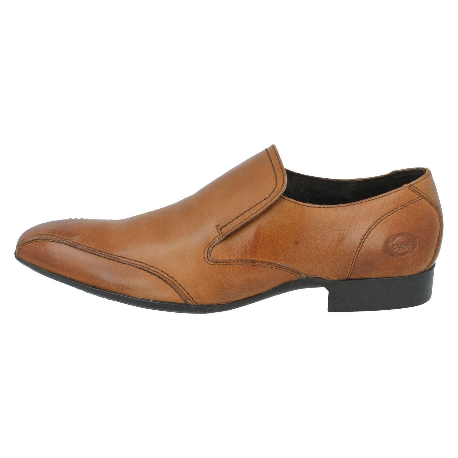 Base London Mens Dude Slip Shoes Waxy Black