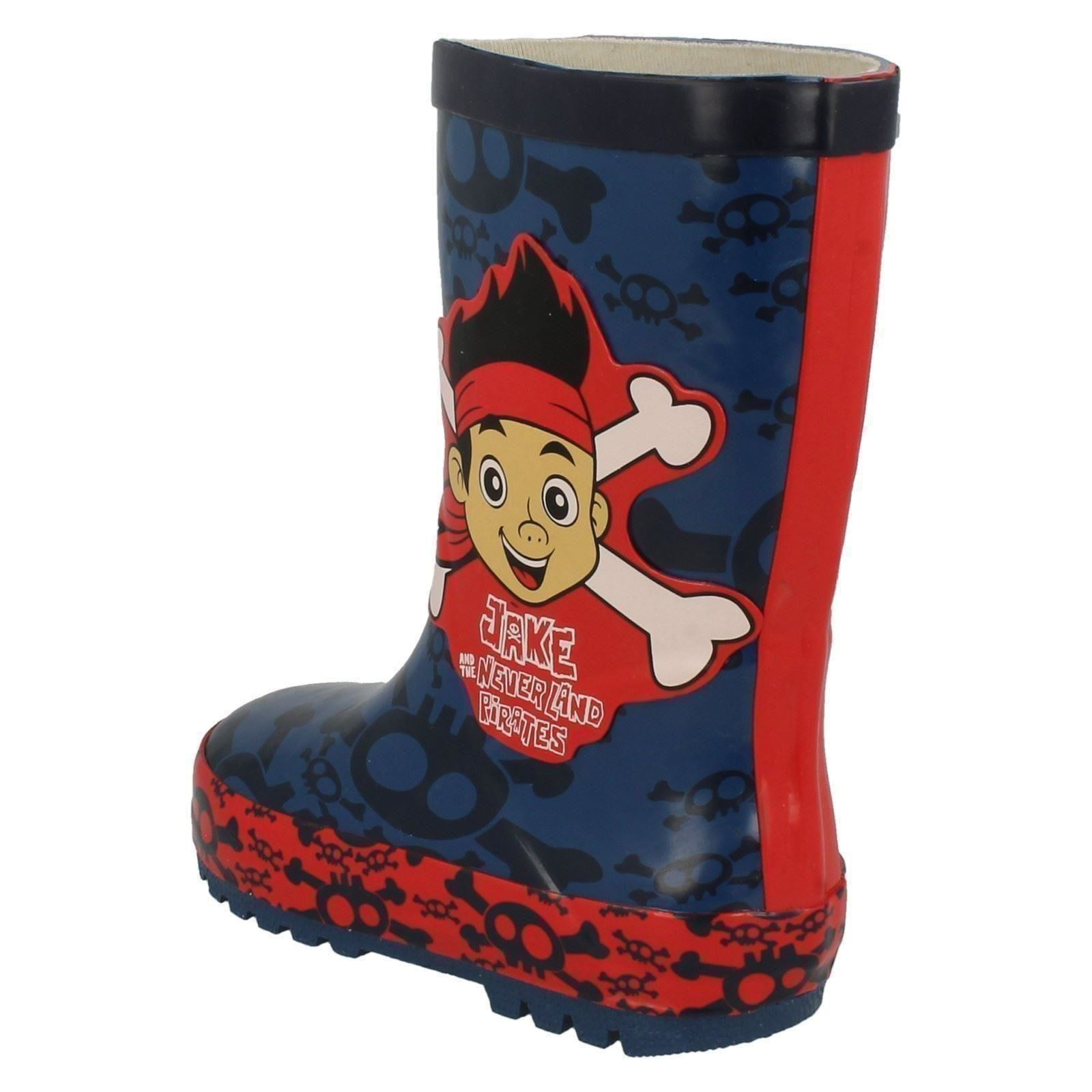 Chicos Disneys Pirata Wellingtons Estilo-Jake Y Los Neverland