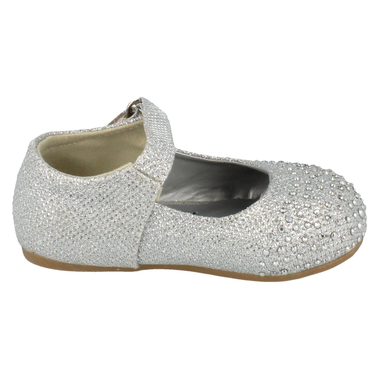 Girls Savannah Shoes with Diamante Detail H2285 - D