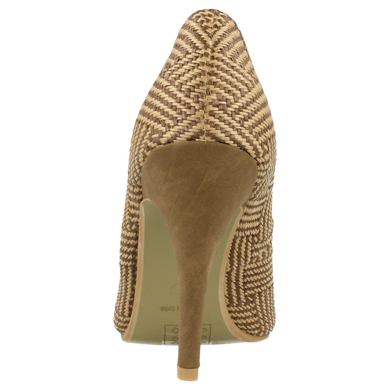 Damas Spot On Casual Punta Abierta Zapatos de F1927 ~ K