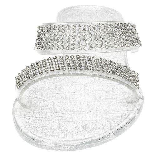 Damas Spot on Diamante Mula Sandalias F0801 ~ K