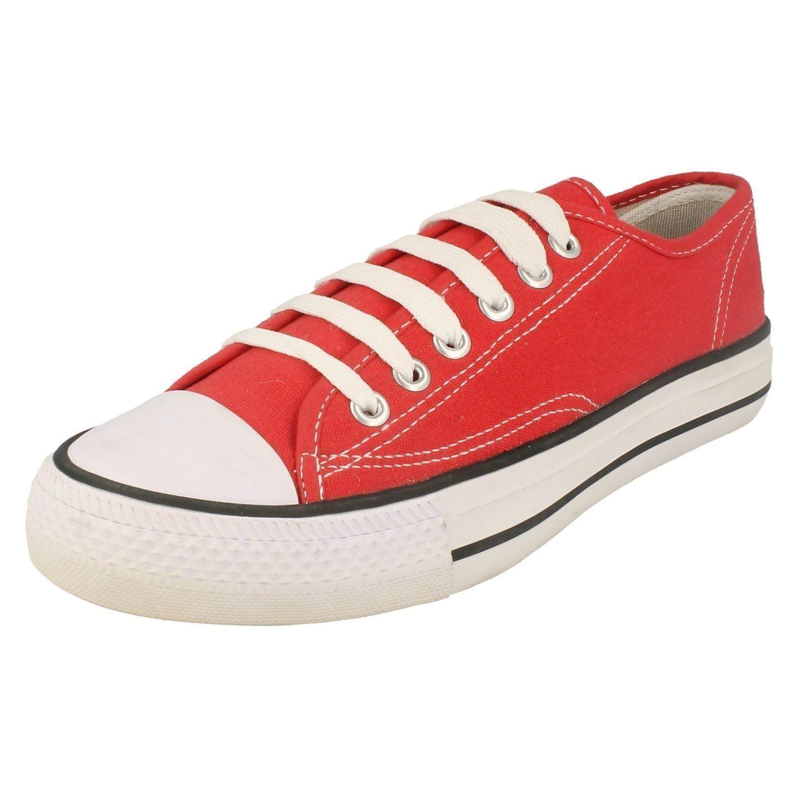 Childs punto en zapatos de lona X0001 Etiqueta ~ K