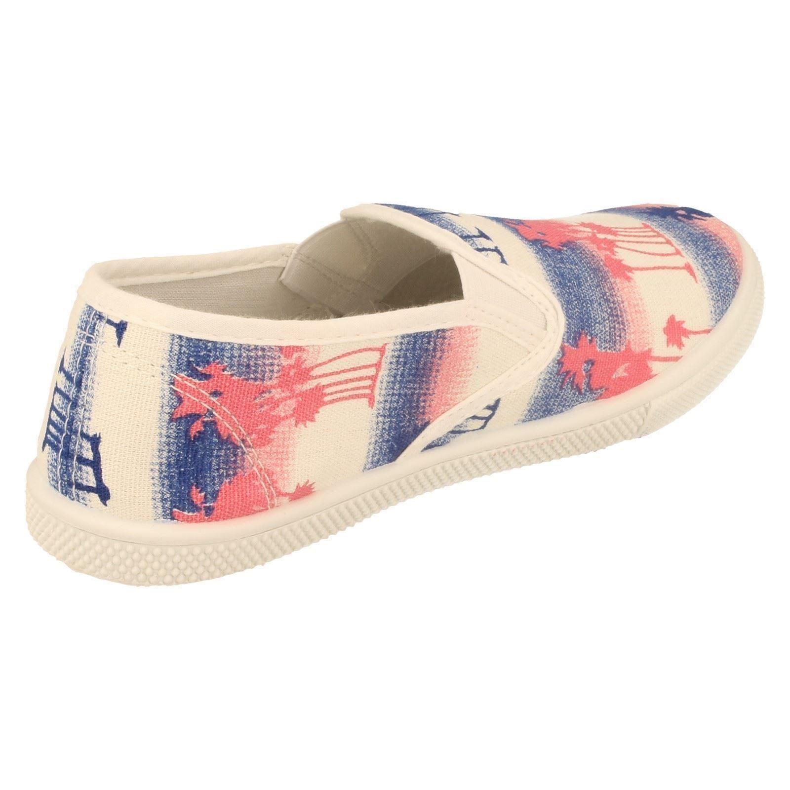 Niñas Spot on Zapatos De Lona H2347-W