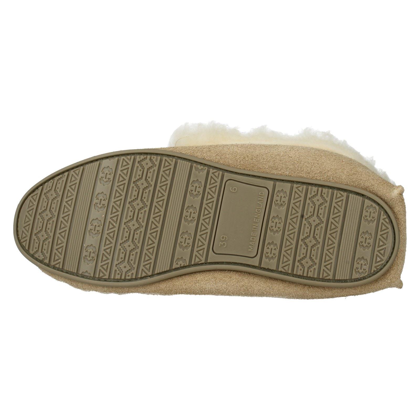 Damas Spot On Zapatillas Estilo Forrado De Piel Sintética-Real Gamuza Botas