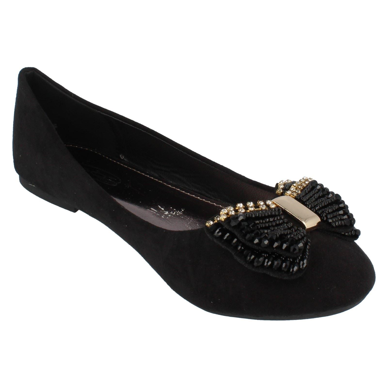 Zapatos planos señoras de punto en el estilo F80087 ~ N