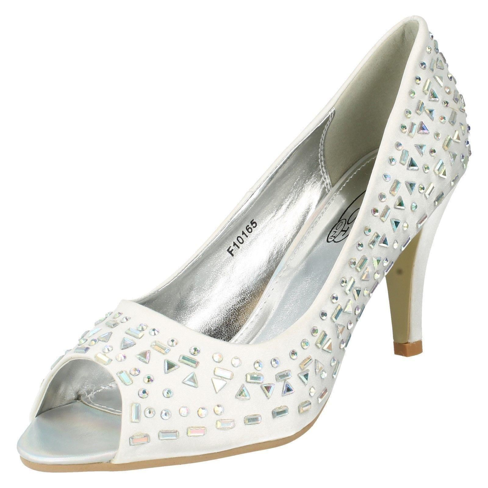 Señoras de punto en Studed Peep Toe Zapatos Estilo-f10165