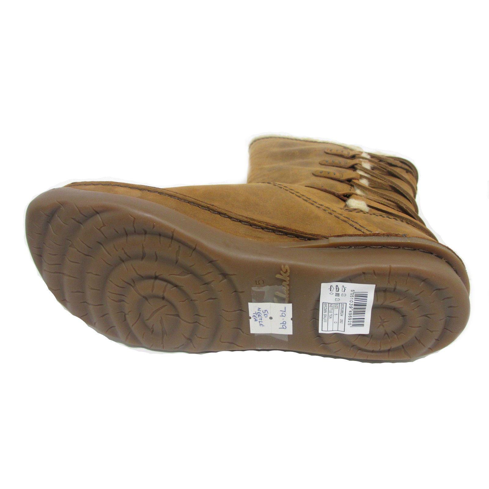 Boots Casual Clarks Nettle Mid Snuff Tea Brown Calf Flat Ladies vqXw6X