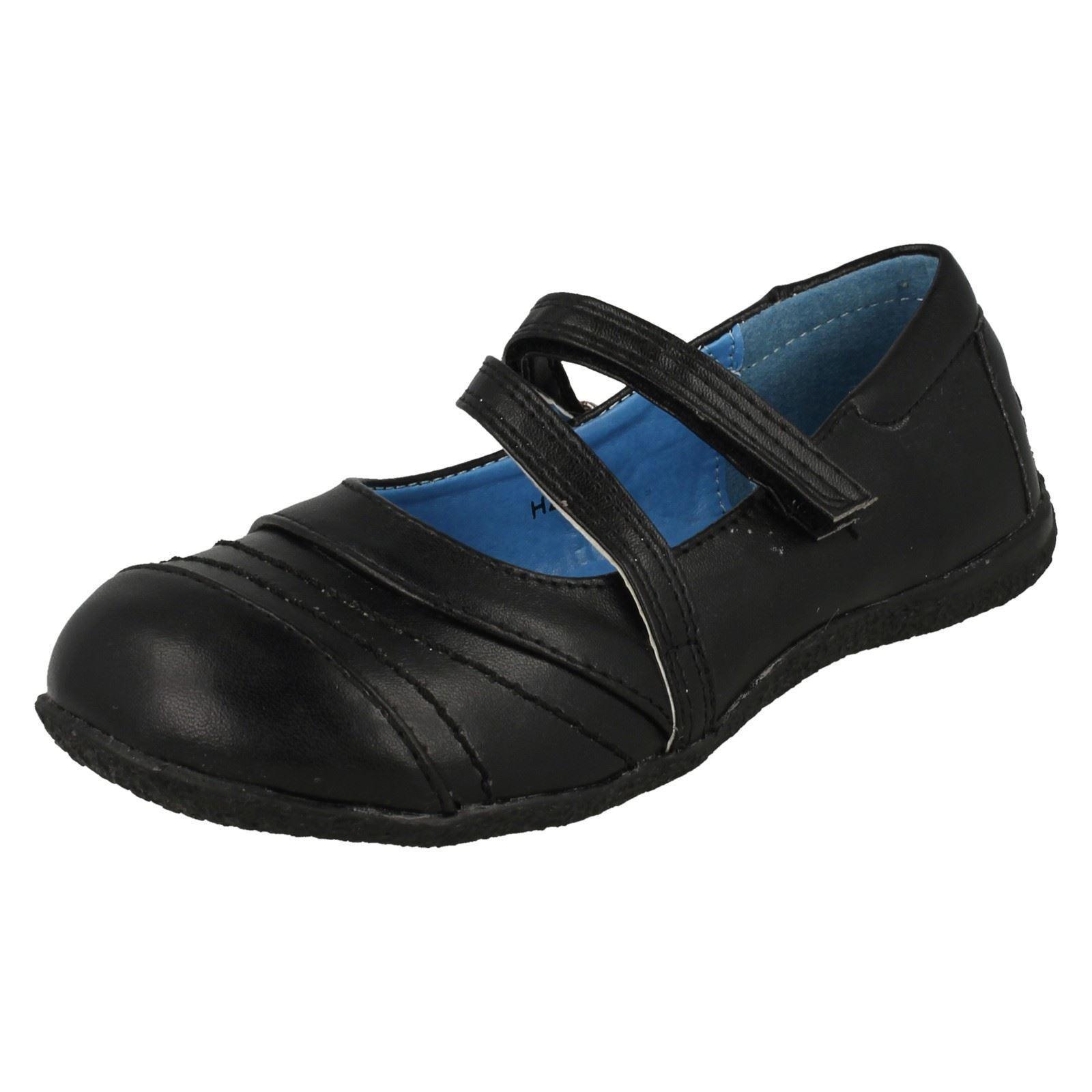 Girls Spot On Smart School Shoes H2119 Label ~ K