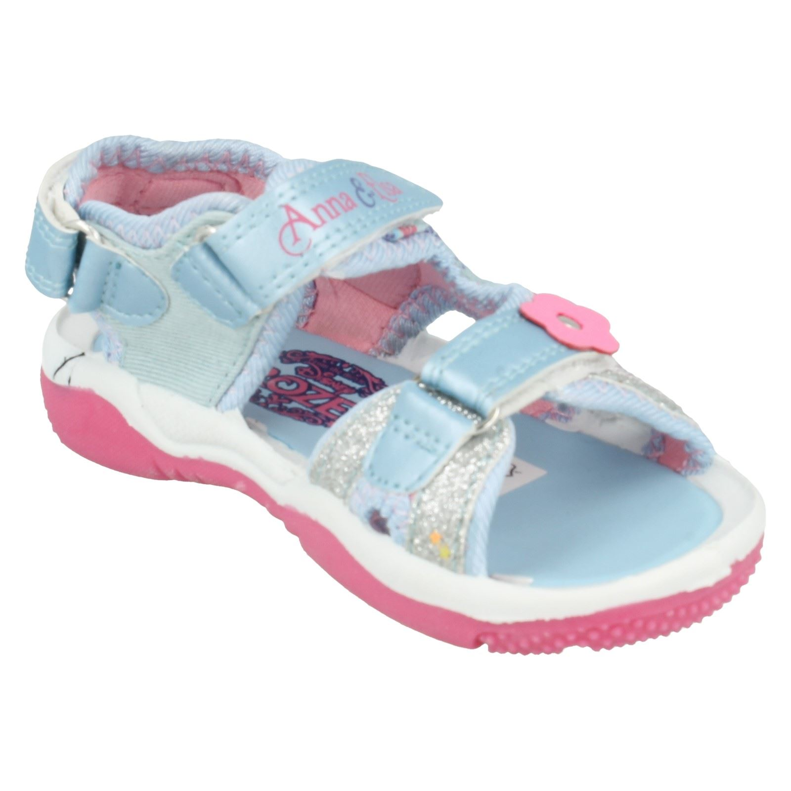 Girls Frozen Sandals Chambray Floral Sports Sandals
