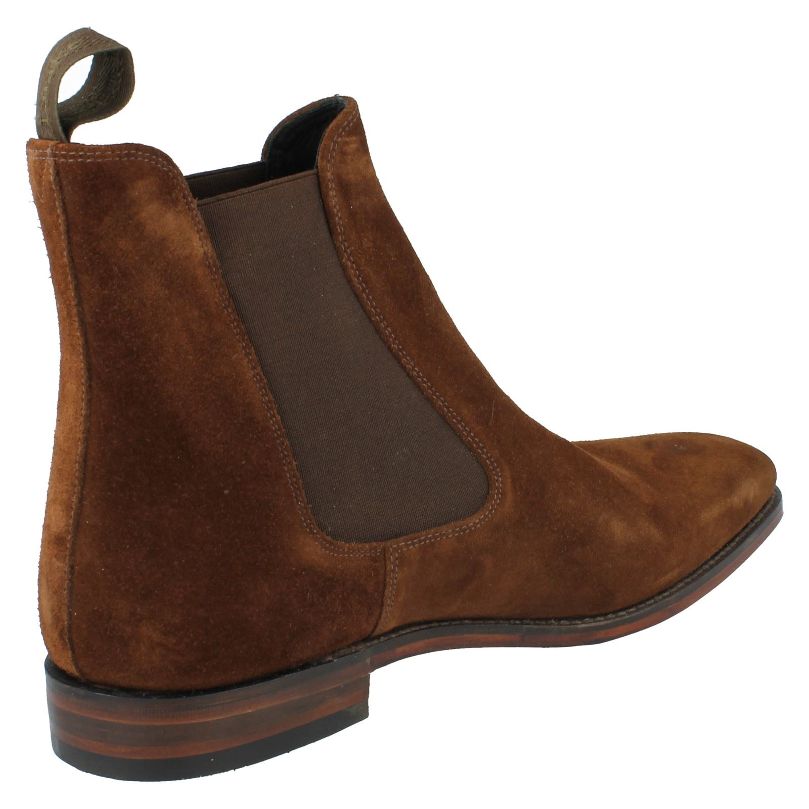 Mens Loake Slip On Ankle Boots Fitting F Style - Mitchum