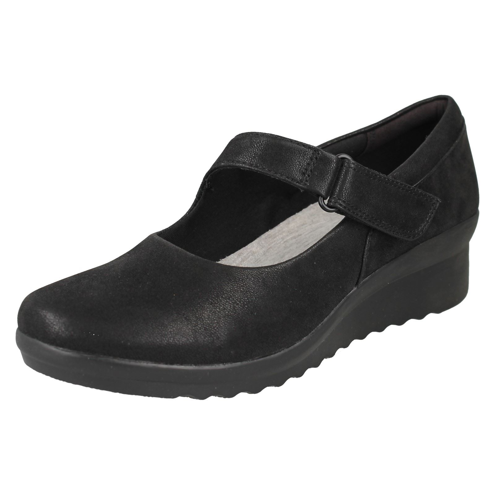 235303ccf6f Clarks Caddell Yale Ladies Wedge Cloudsteppers Shoe Black UK 7. About this  product. Picture 1 of 10  Picture 2 of 10 ...