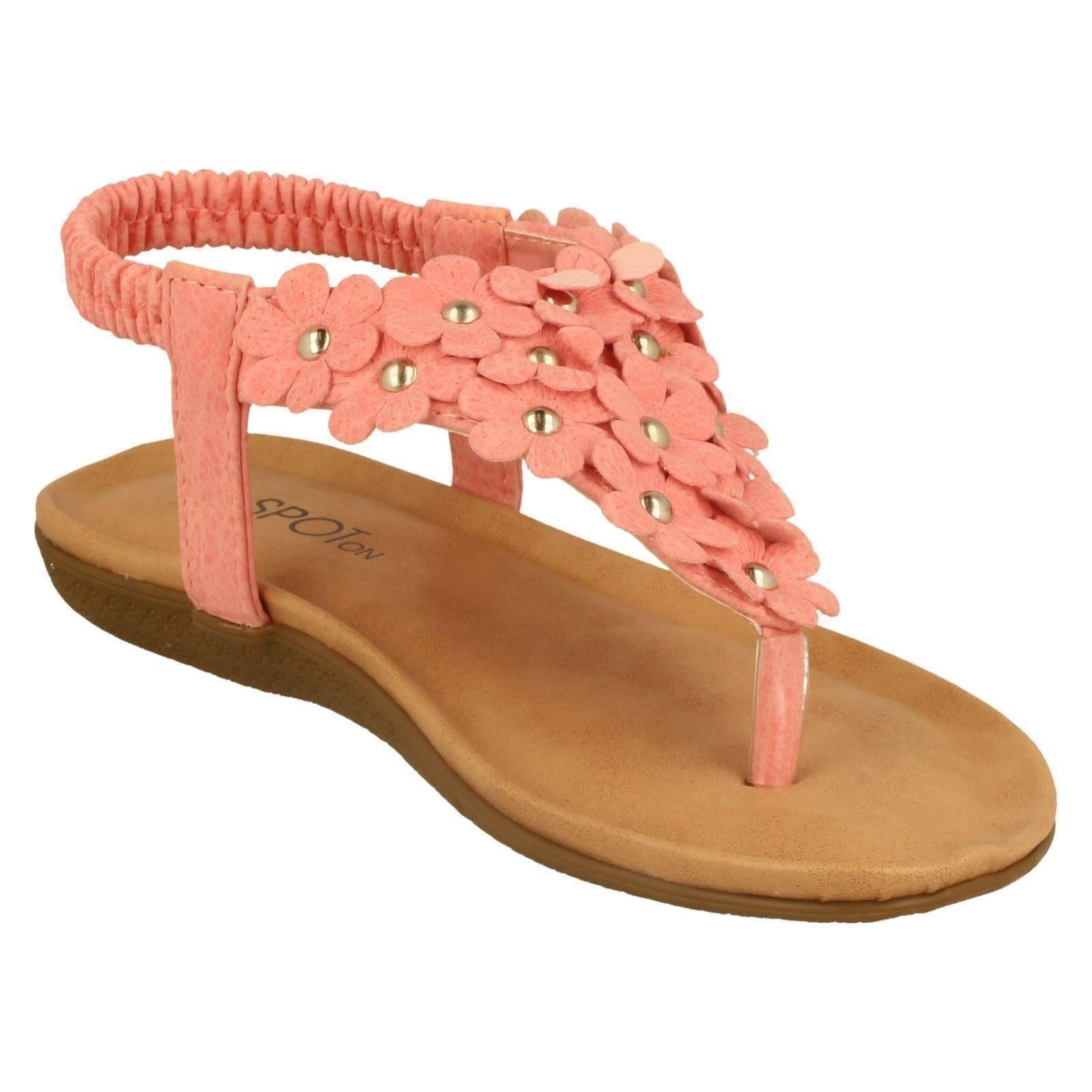 Girls Spot On Sandals Style H0248-W