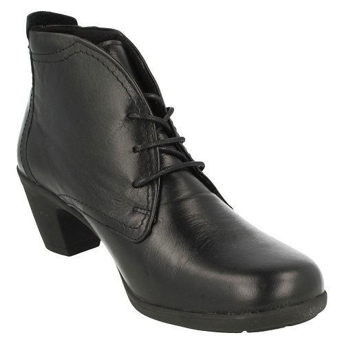 Donna-Easy-B-039-JO-039-In-Pelle-Camoscio-Lacci-Altezza-Caviglia-Larga-Stivali-lo-stile-K
