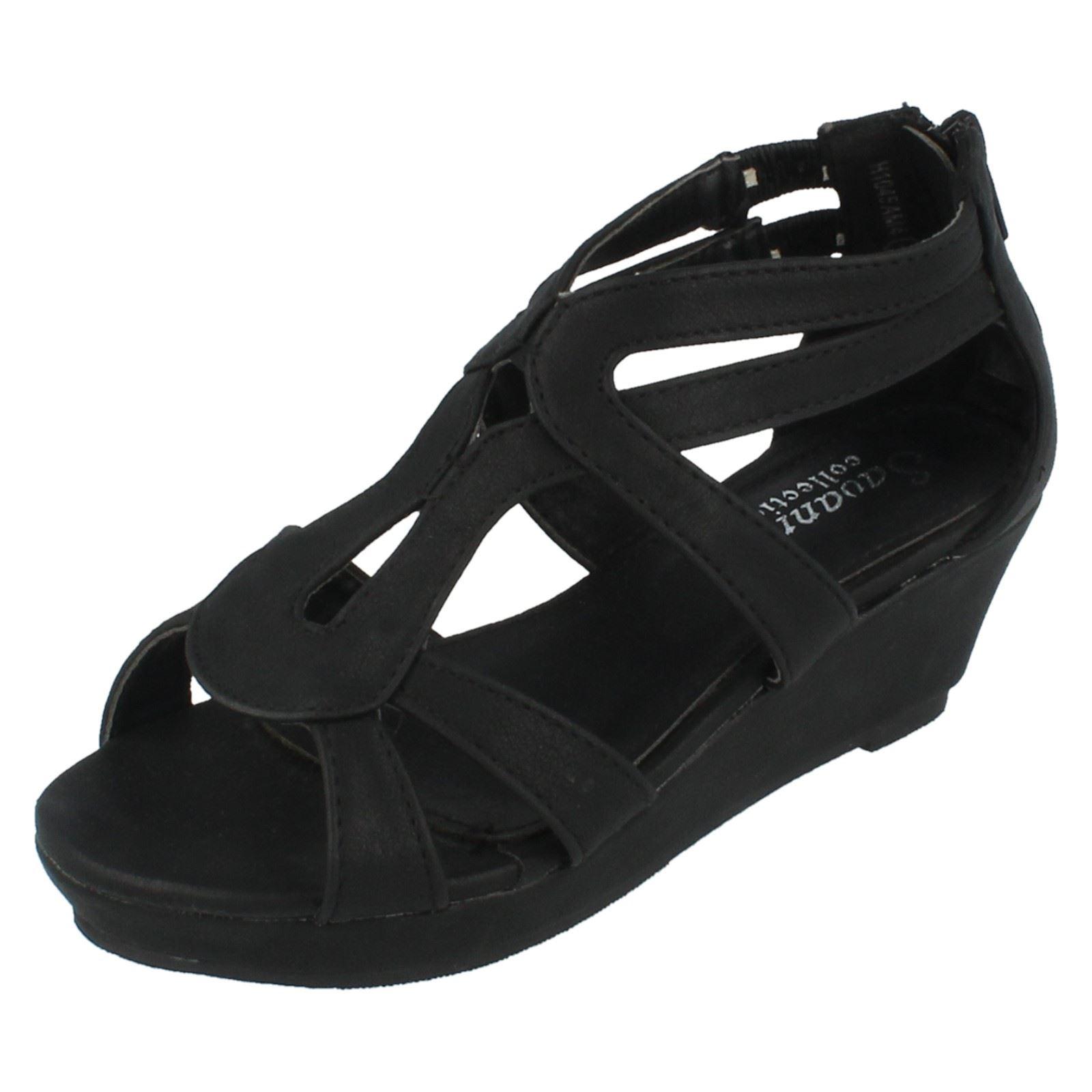 Girls Savannah Collection Wedge Sandals - H1045 ~ N