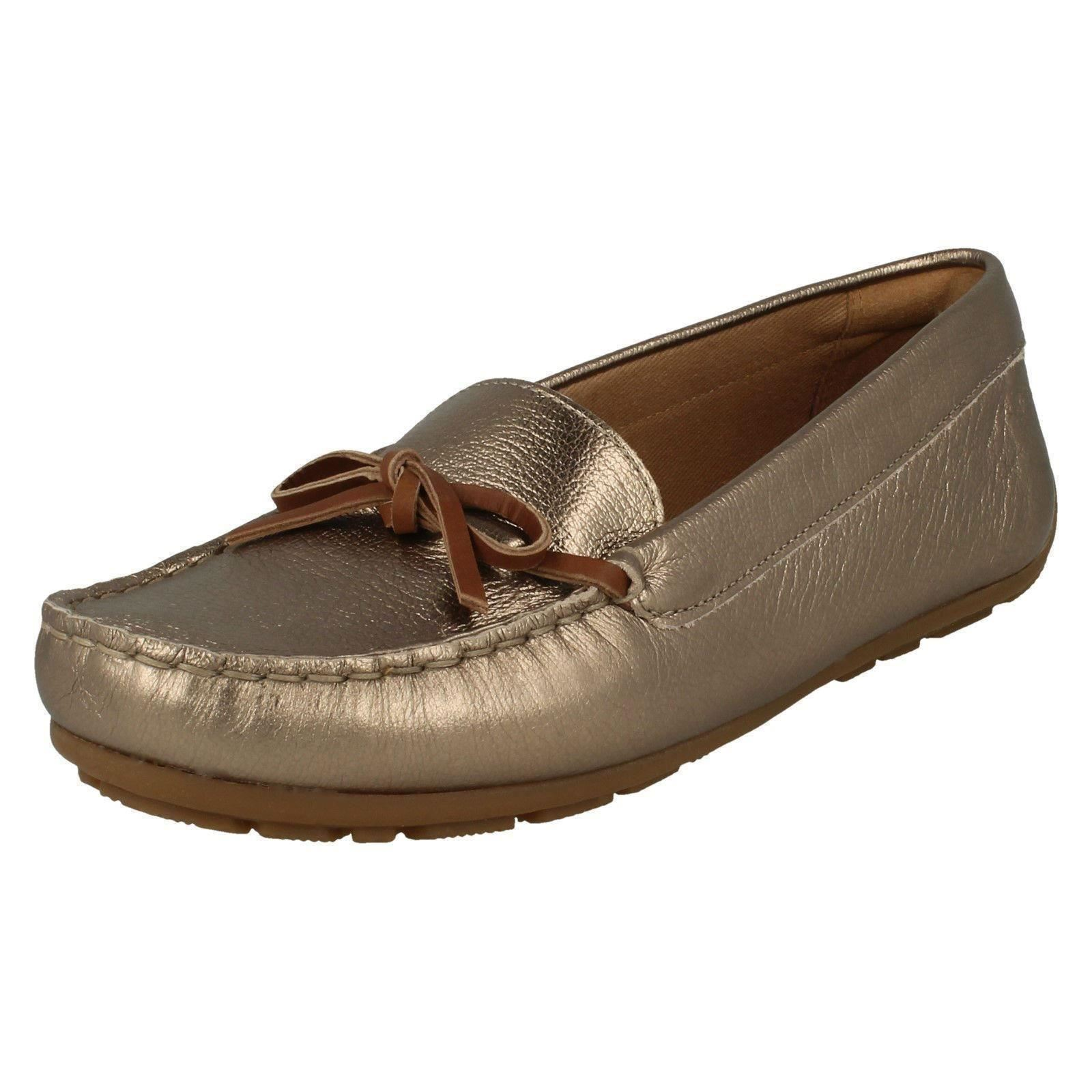 Ladies Clarks Bow Front Slip On Moccasin Shoes Style - Dameo Swing; Picture  2 of 10 ...