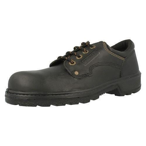 f9556cf1396 Unisex Totectors Smooth Leather Gibson Tie Shoe 3987 Black 6 UK Standard