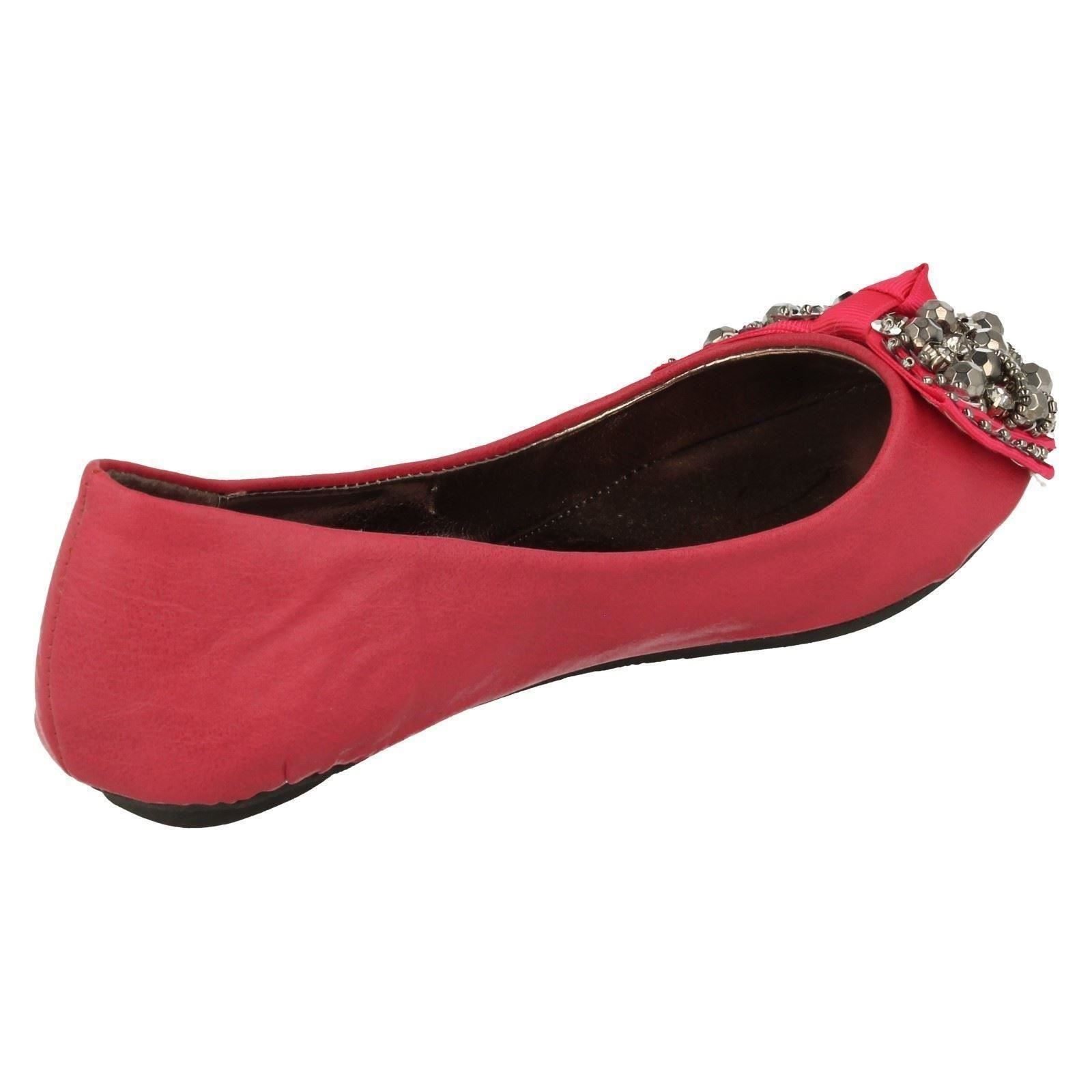 Girls Spot On Flat Ballerina Shoes H2227 ~ K