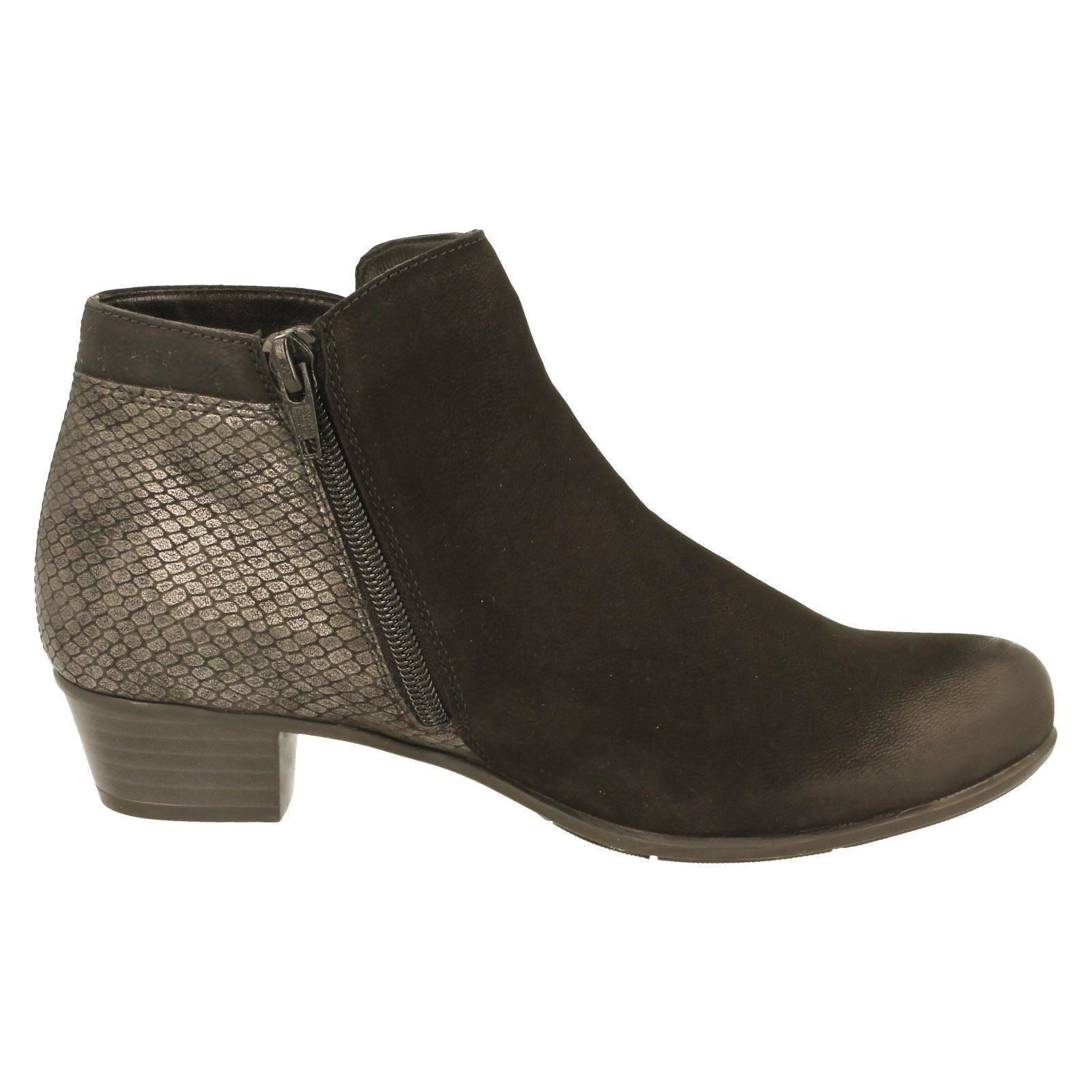 D3579 w Remonte Style Boots Ankle Black The Combination Ladies RzwZqn