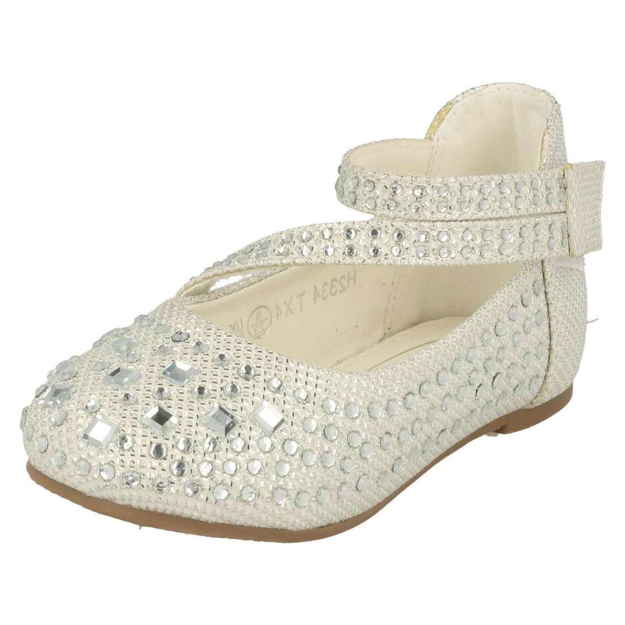 Girls Spot On H2334 Formal Glitter Shoes Style ~ K
