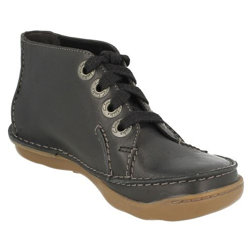 Casual K Beer' Boots Clarks ~ Ladies Black 'nettle Label xawBZpCq