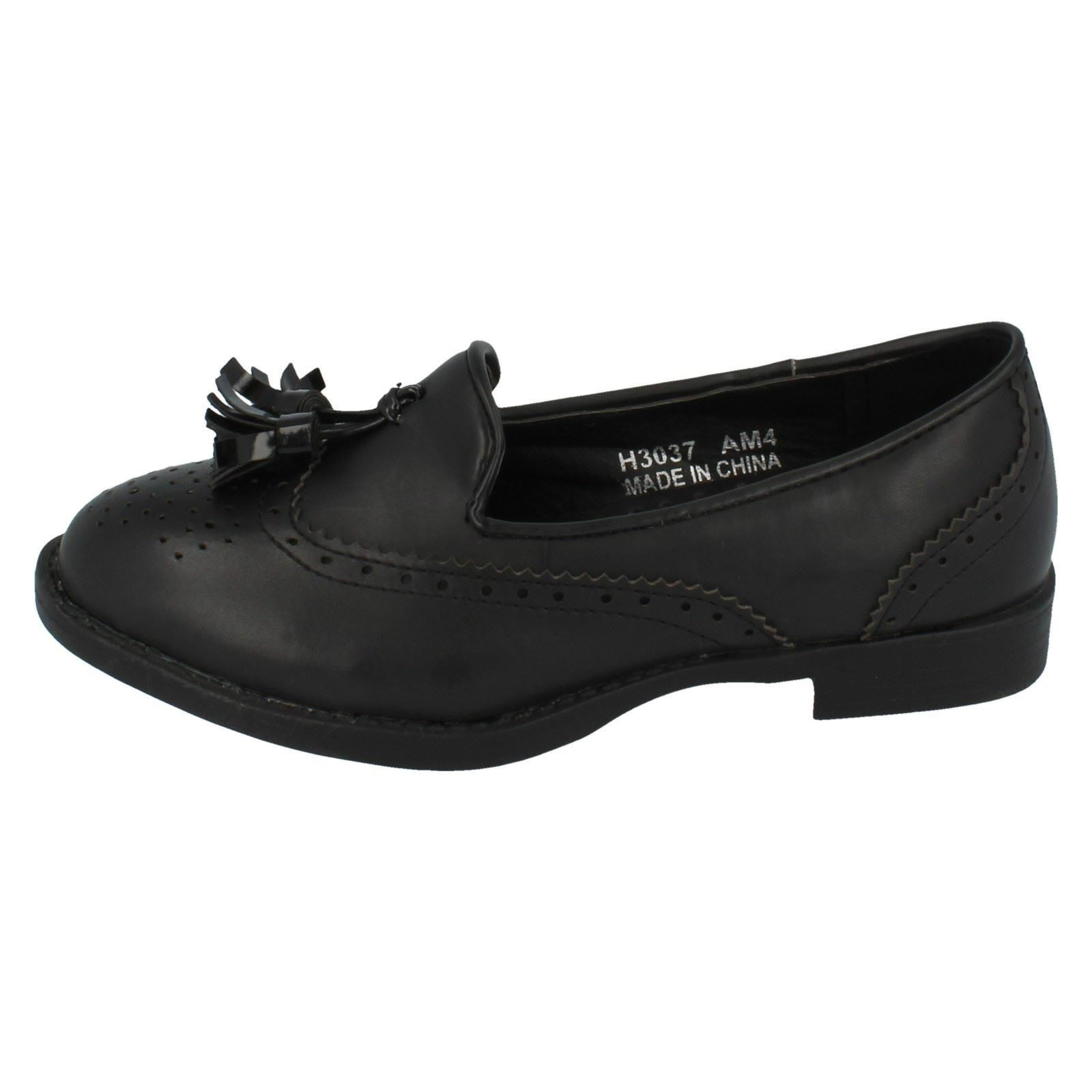 Ladies Spot On Brogue School Shoes Style - H3037 - D