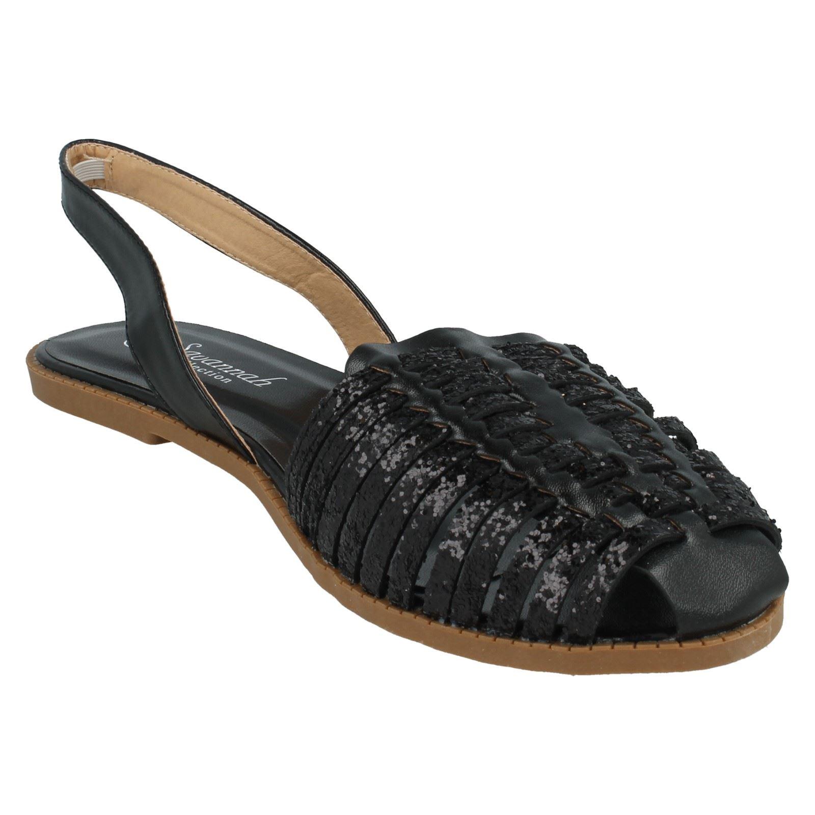Sandalias de verano señoras de la Sabana ESLINGA vuelta Etiqueta-F0949