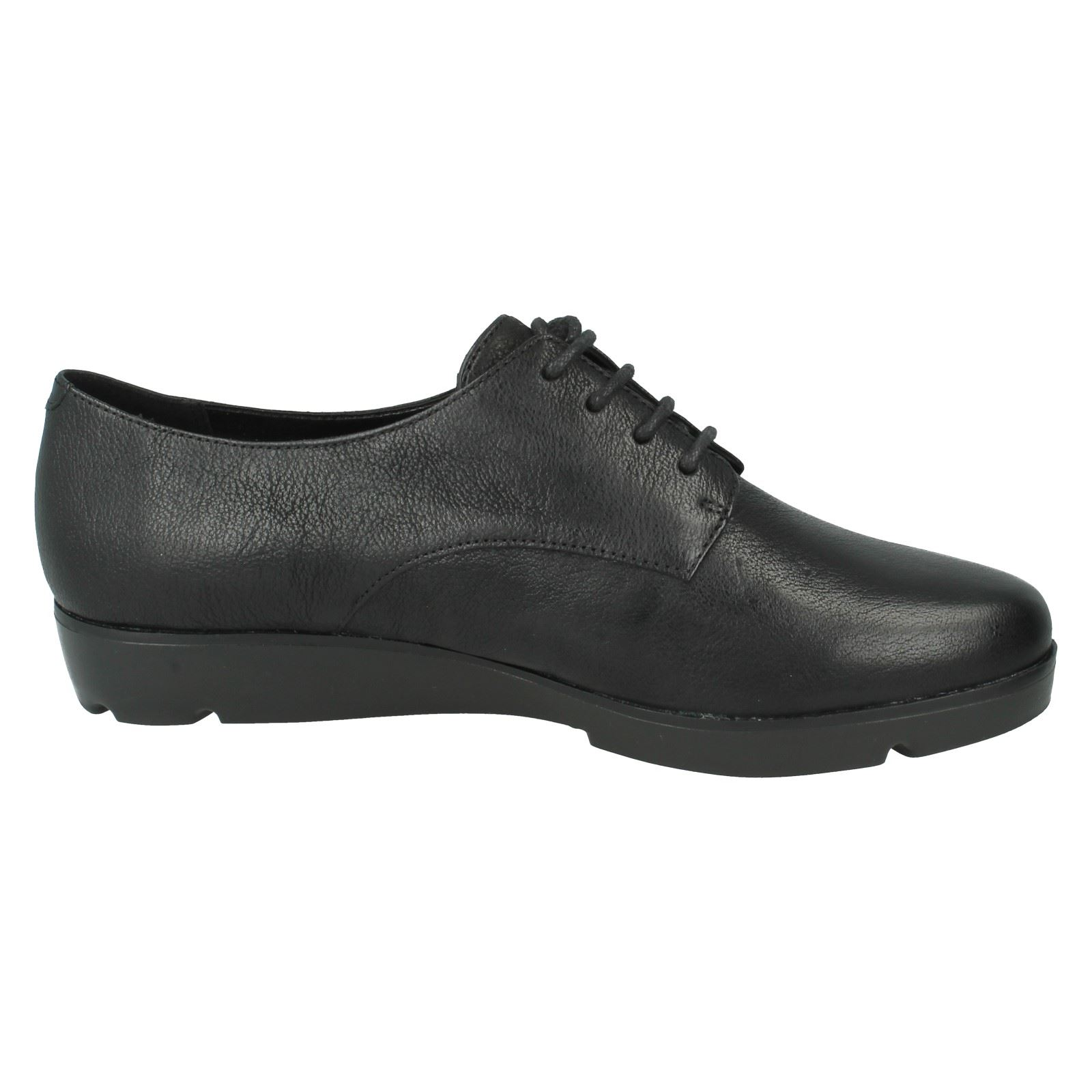 aller pour en Clarks Bow noir tout Chaussures Style The femmes à Evie lacets cuir wtYqBxP1I