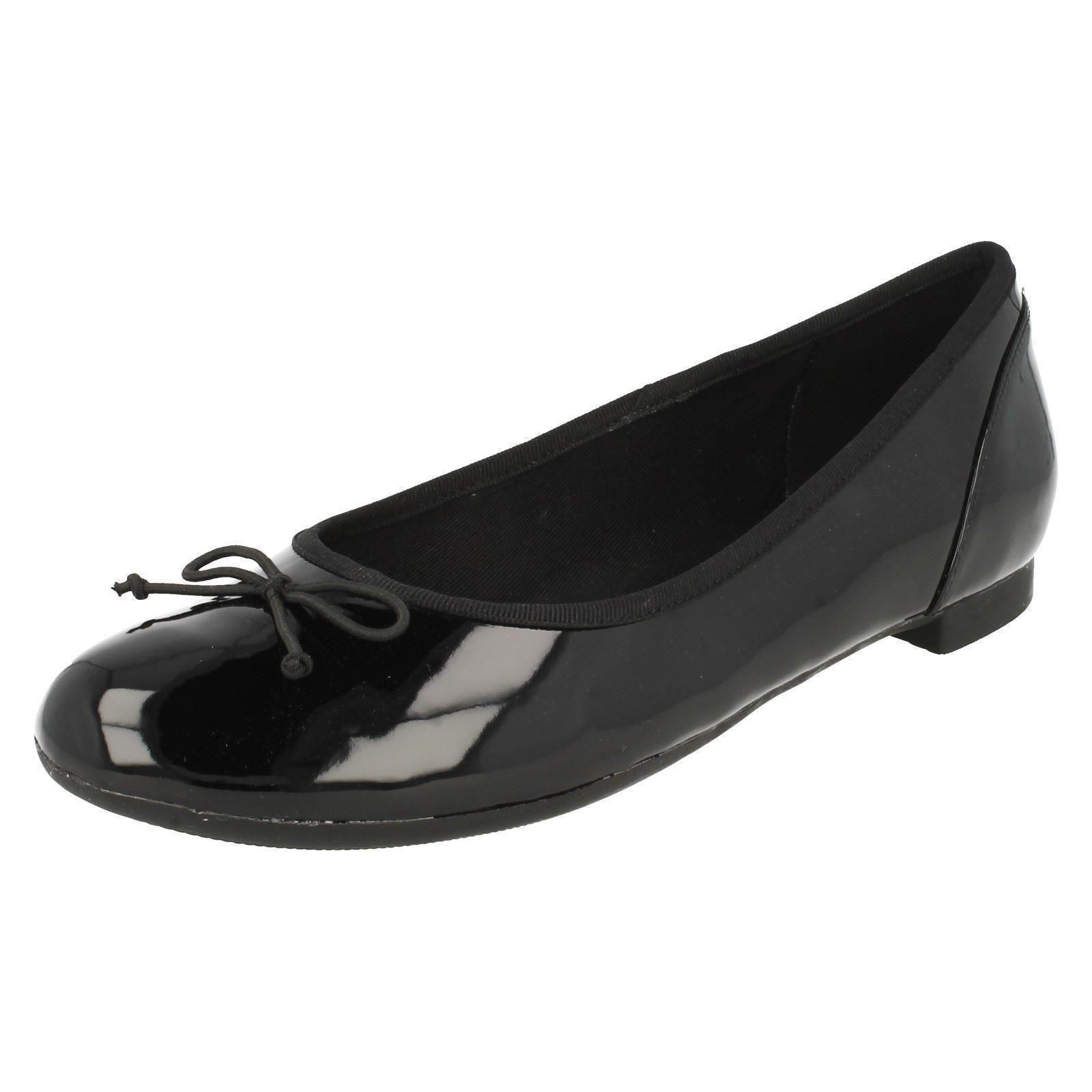 aaa7e0c7b561 Ladies Clarks Ballet Flats The Style Couture Bloom 3 UK Black Patent E.  About this product. Picture 1 of 11  Picture 2 of 11 ...