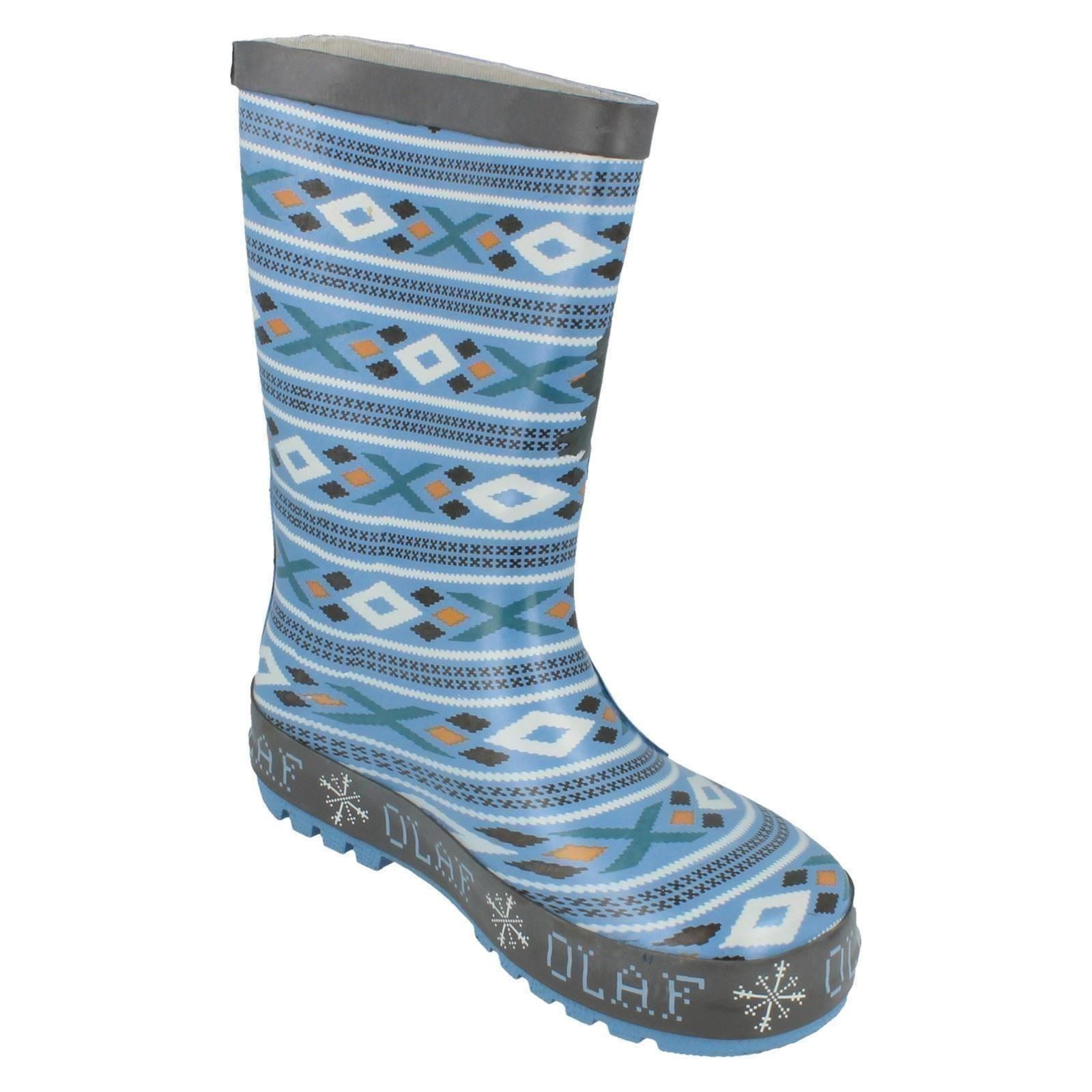 Children's Disney Olaf Tire de Wellington Botas frozenolaf-D