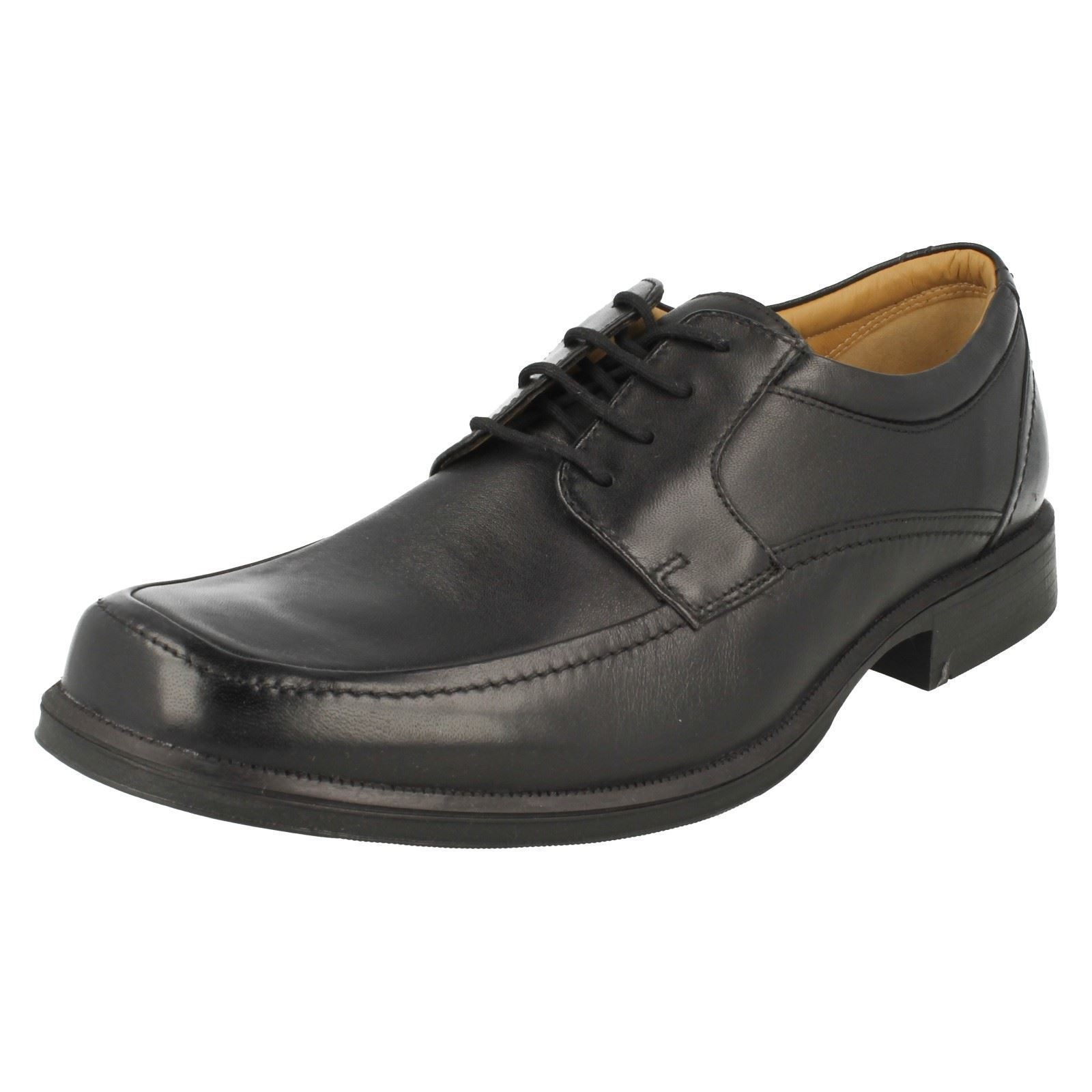 Uomo Clarks Leather 'Hang Spring' Smart Leather Clarks Shoes ~ K 59dbc0