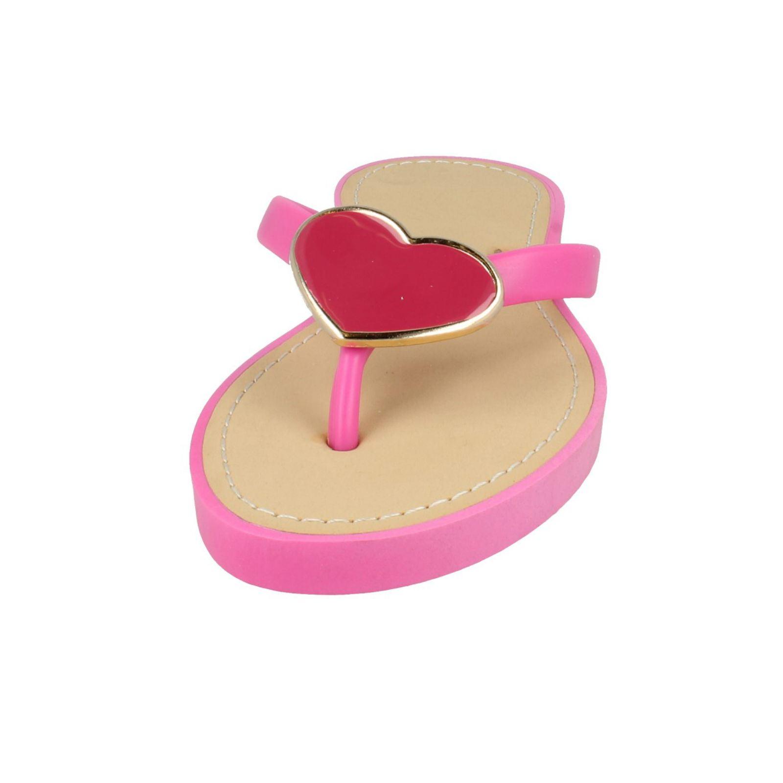 Señoras Toe Post mula con detalle de corazón mancha en el estilo-F0784
