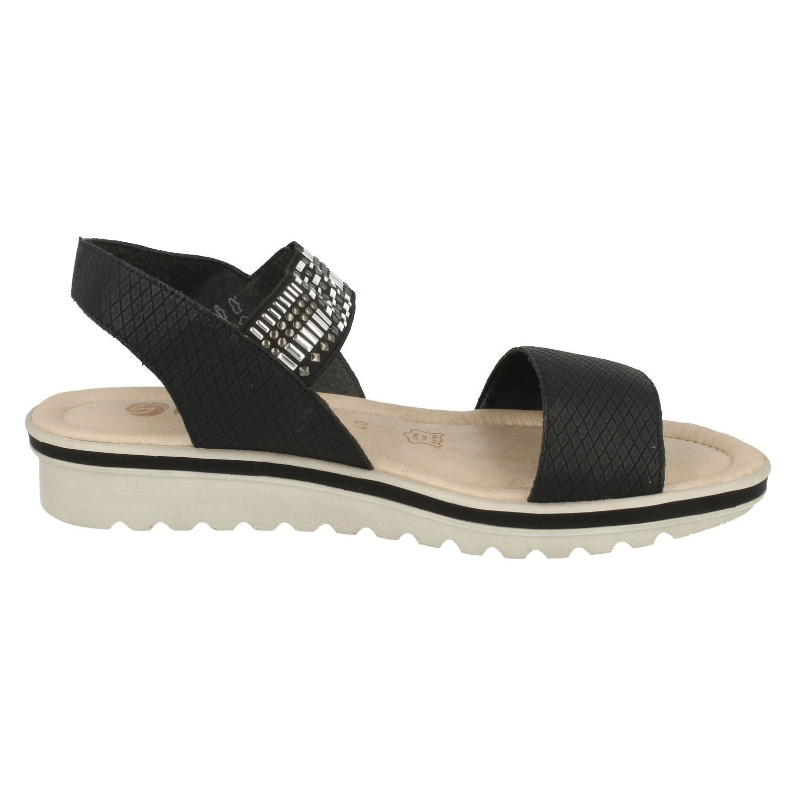 Ladies Black Remonte Style Sandals R4551 qHqCr