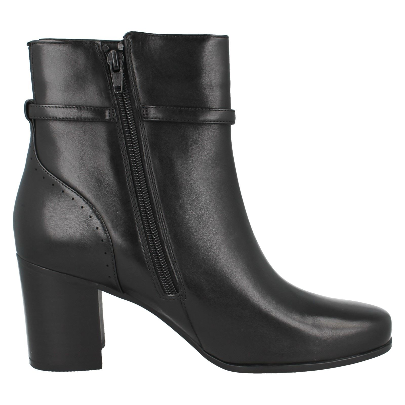 Style Kensett Formal Leather Ankle Diana Boots Clarks Black Ladies TIxqwXT
