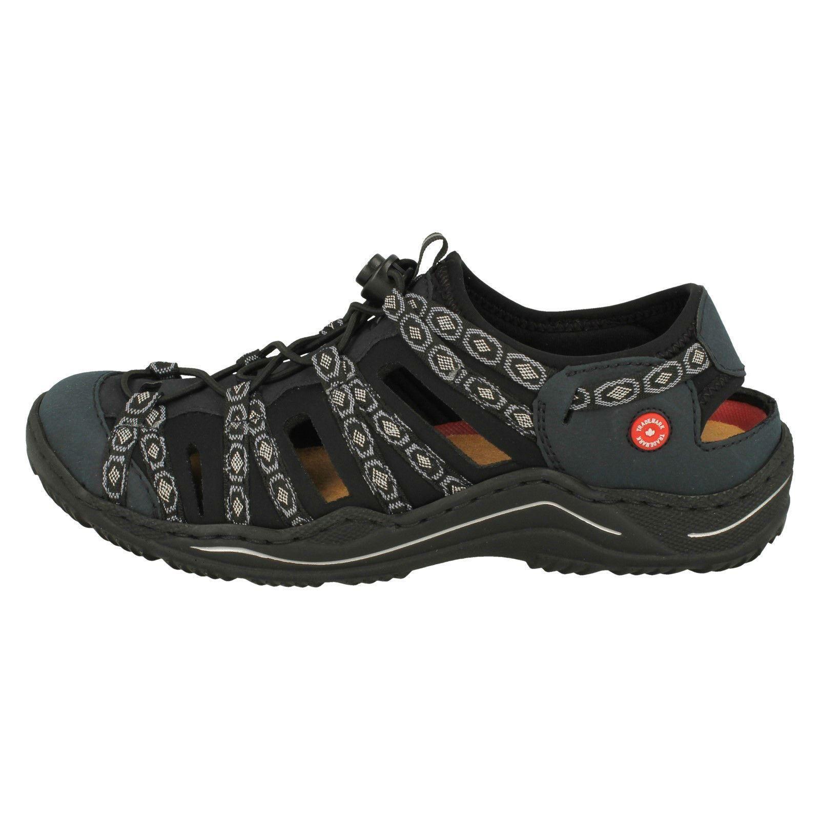 Damas Rieker Sandalias de dedo del pie cerrado el estilo-L0577