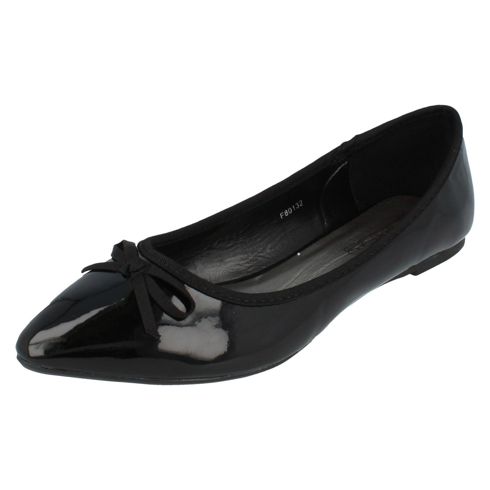 Zapatos señoras de punto en plano estilo-F80132-D