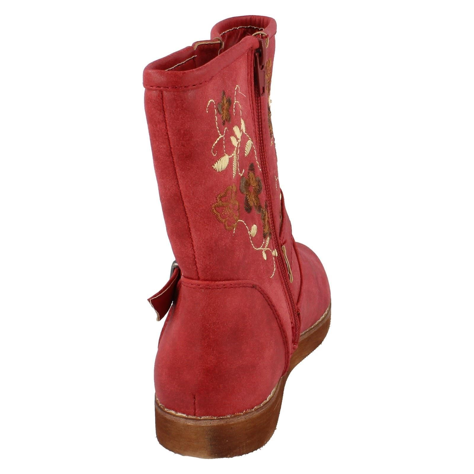 Girls Spot On Boots Label H4083