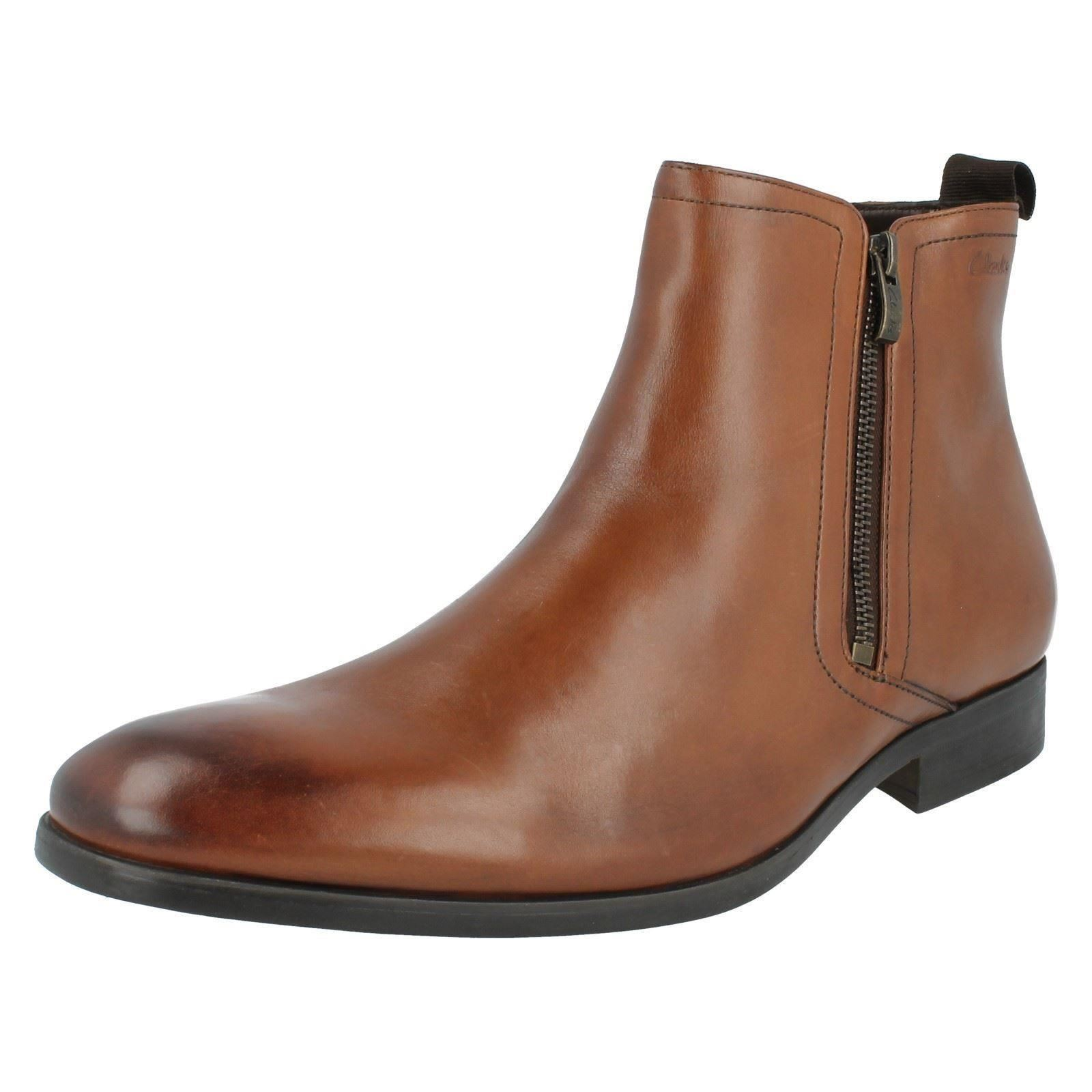 Men's Clarks Smart Ankle Boots Style - Banfield Zip