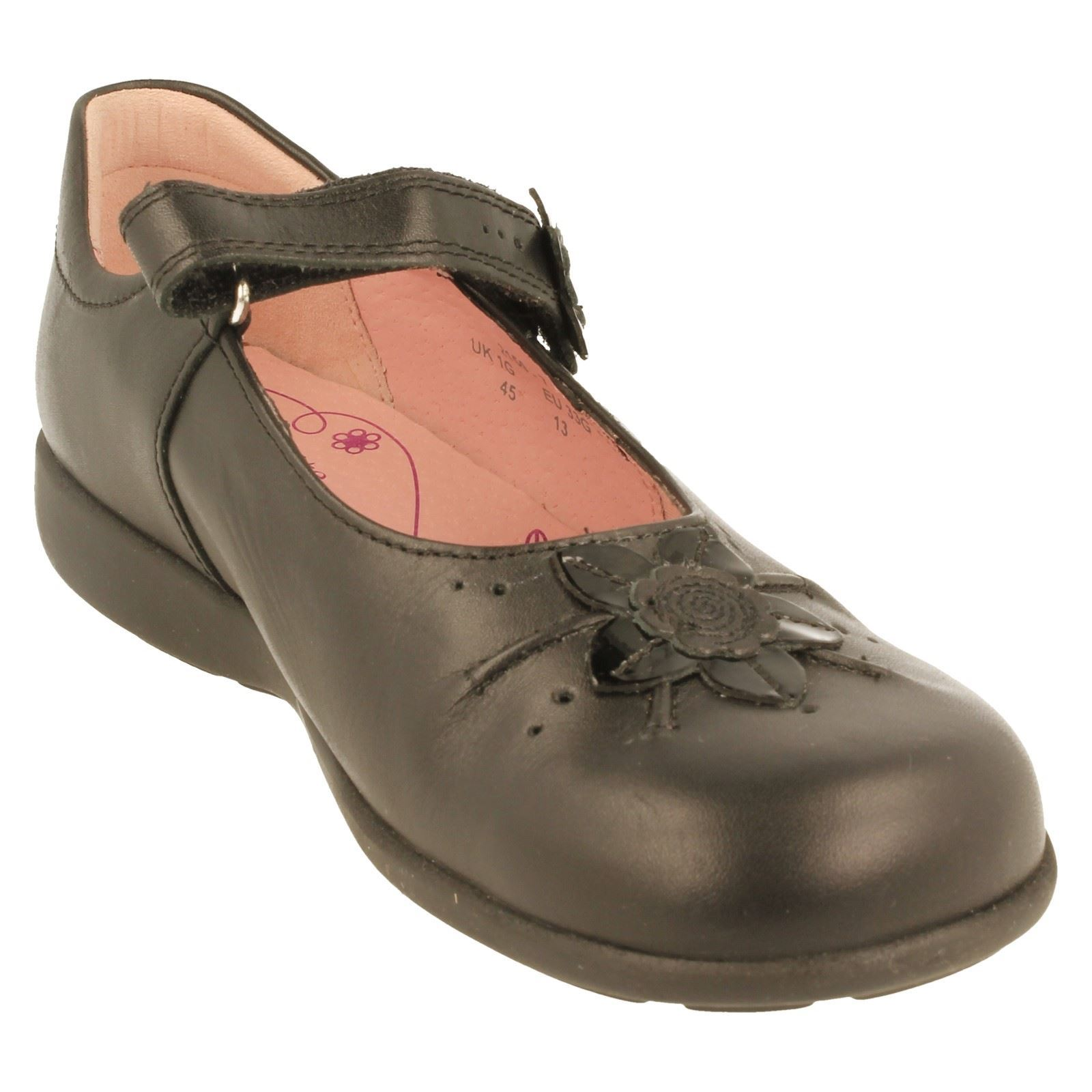 Chicas START Rite Mary Jane Zapatos Escolares Violeta-W