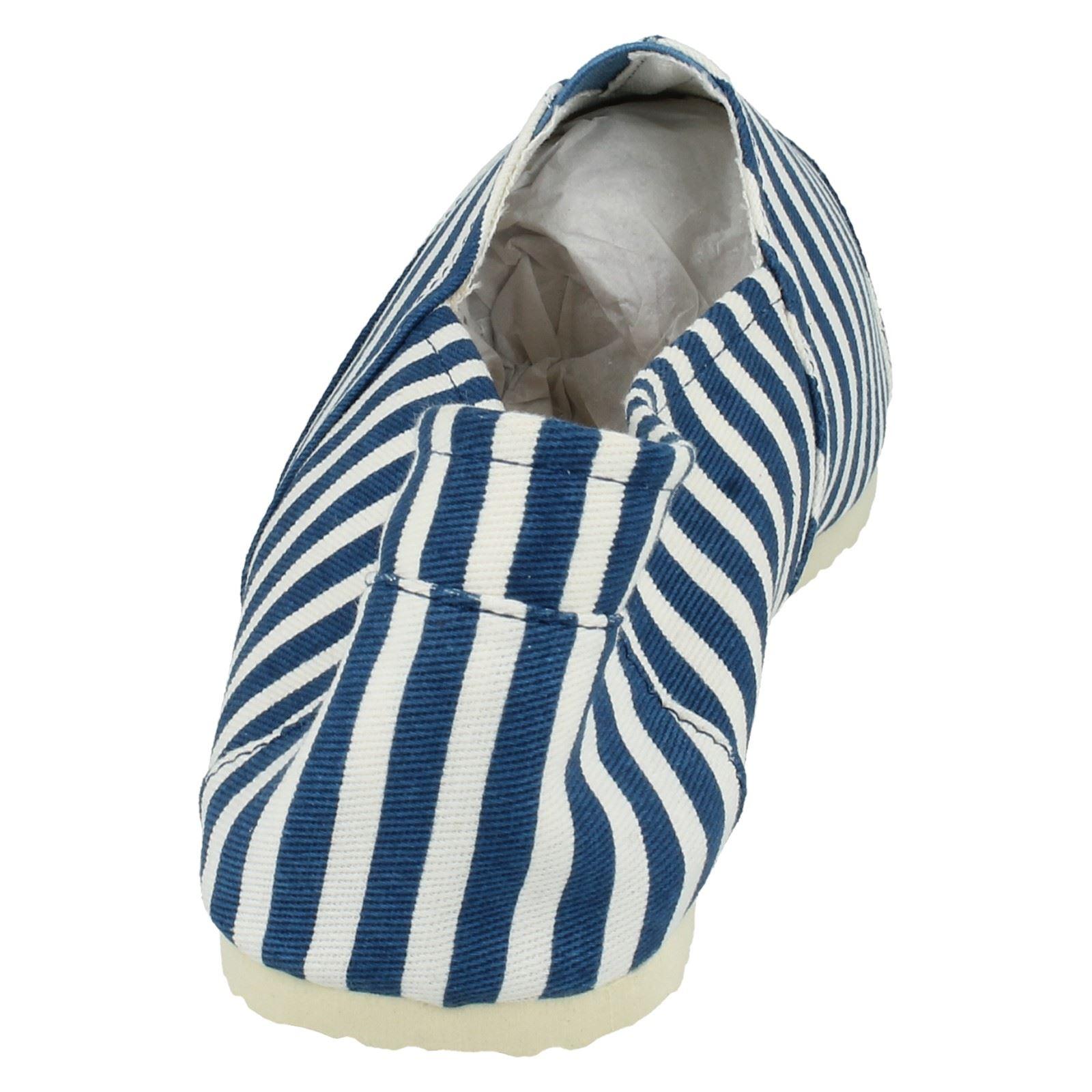 Para Hombre Zapato Antideslizante En Lona Plana Etiqueta-A1079