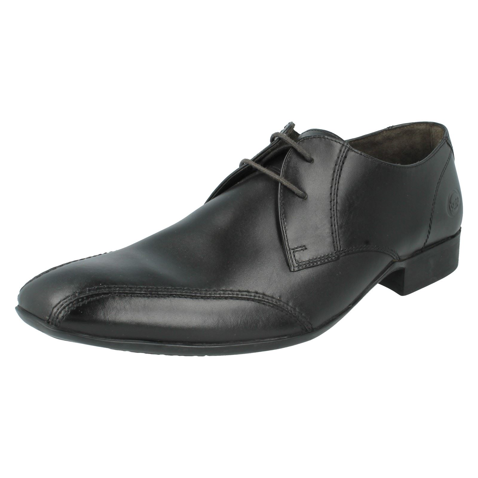 SALE Mens INDENT black leather lace up shoe by Base London Retail Price £35.00