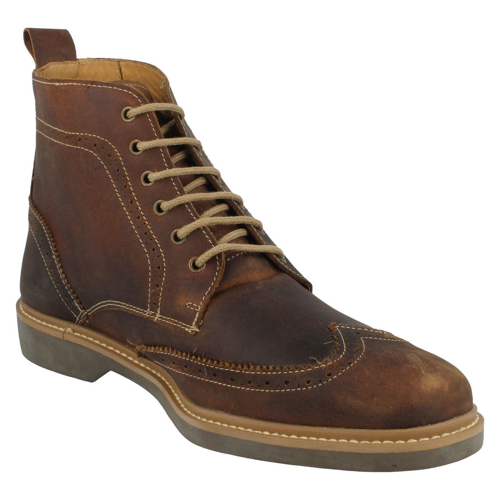 Mens Anatomic Anatomic Anatomic & Co Brogue Boots 'Nova' Style ~ K 148b7c