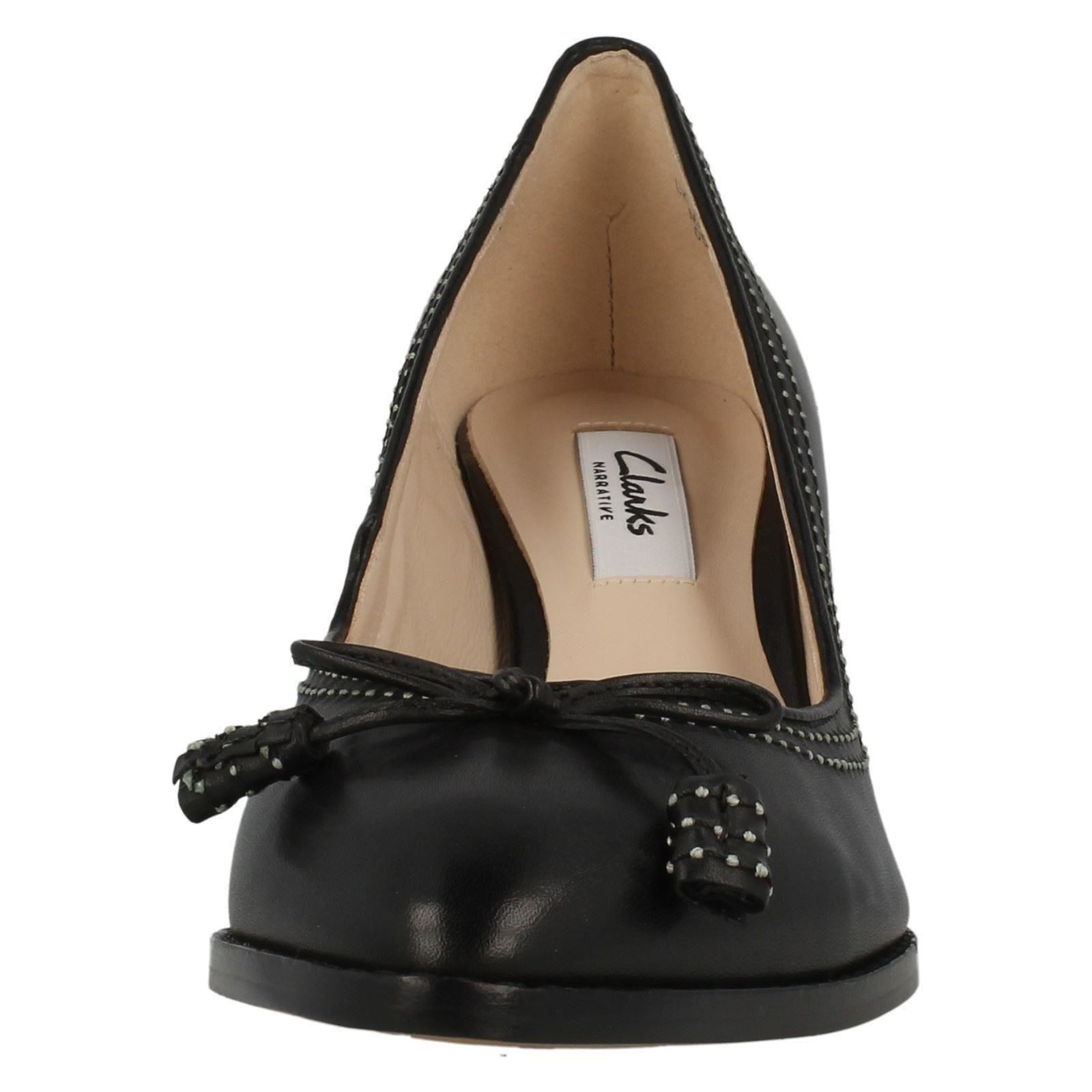 Court Pointed On Ladies Label Shoes Leather Toe Slip Black Clarks Bombay Ancient EwqqxrfY