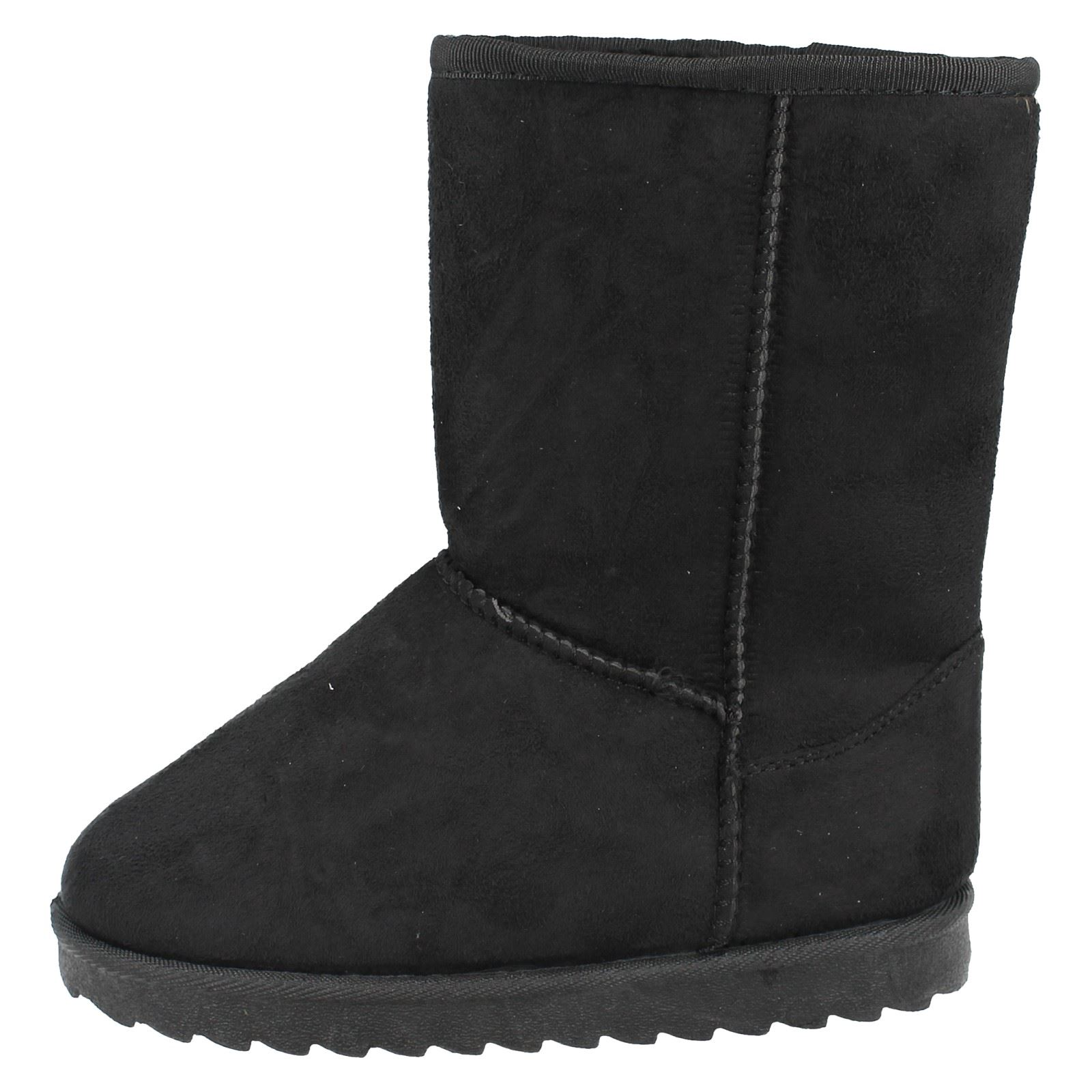 Childrens Spot On Faux Fur Lined Boots Label H4141