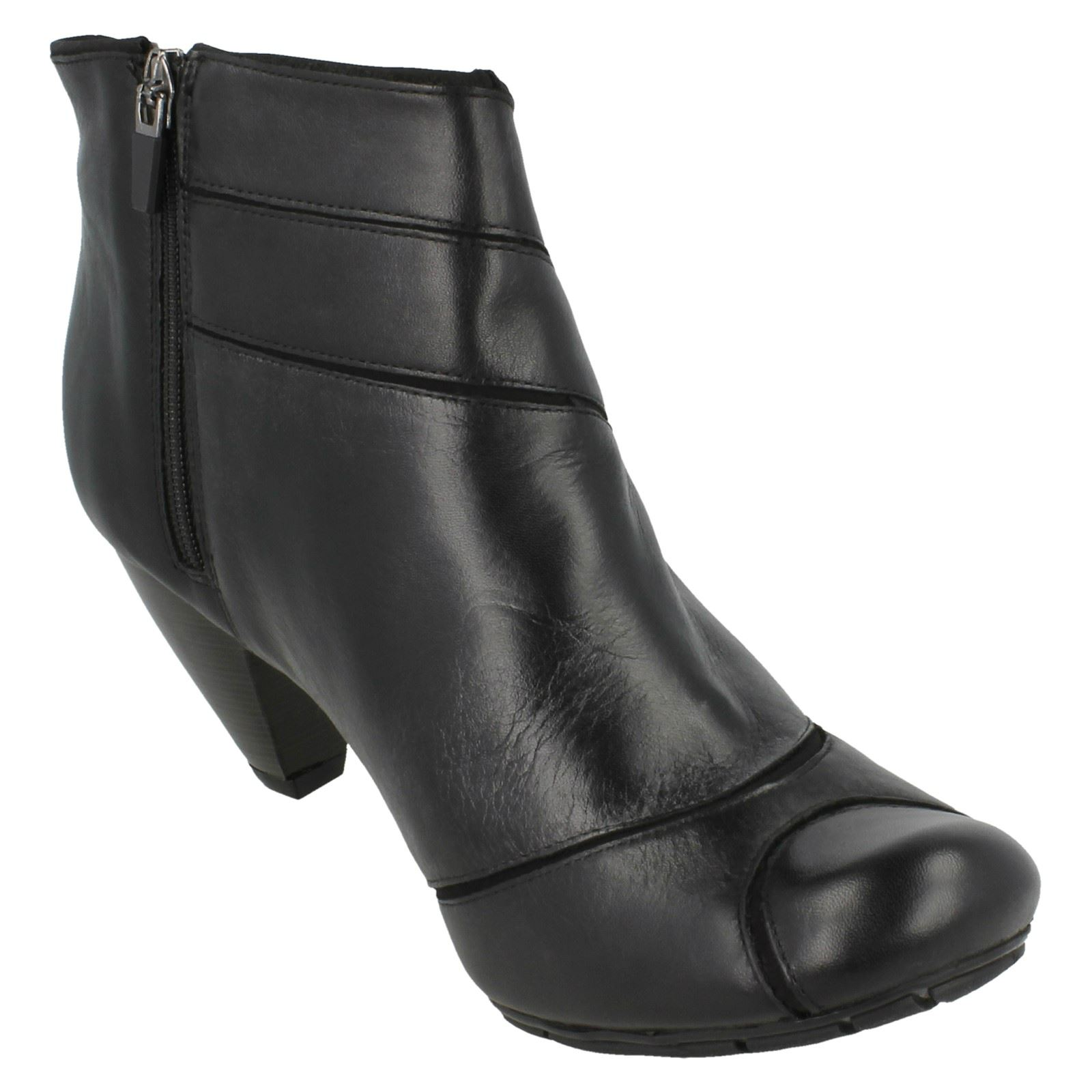 ~ Boots Ladies Any' Softwear K Ankle 'lula Black Clarks Style Leather I7w7xS68