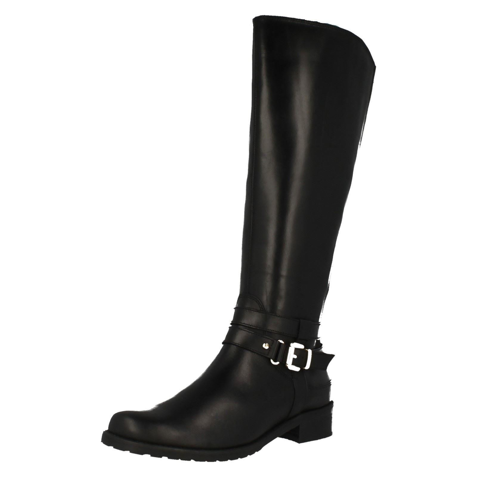 Ladies Riding Clarks Mid Calf Riding Ladies Long Boots The Style - Nessa Abbey f63acd