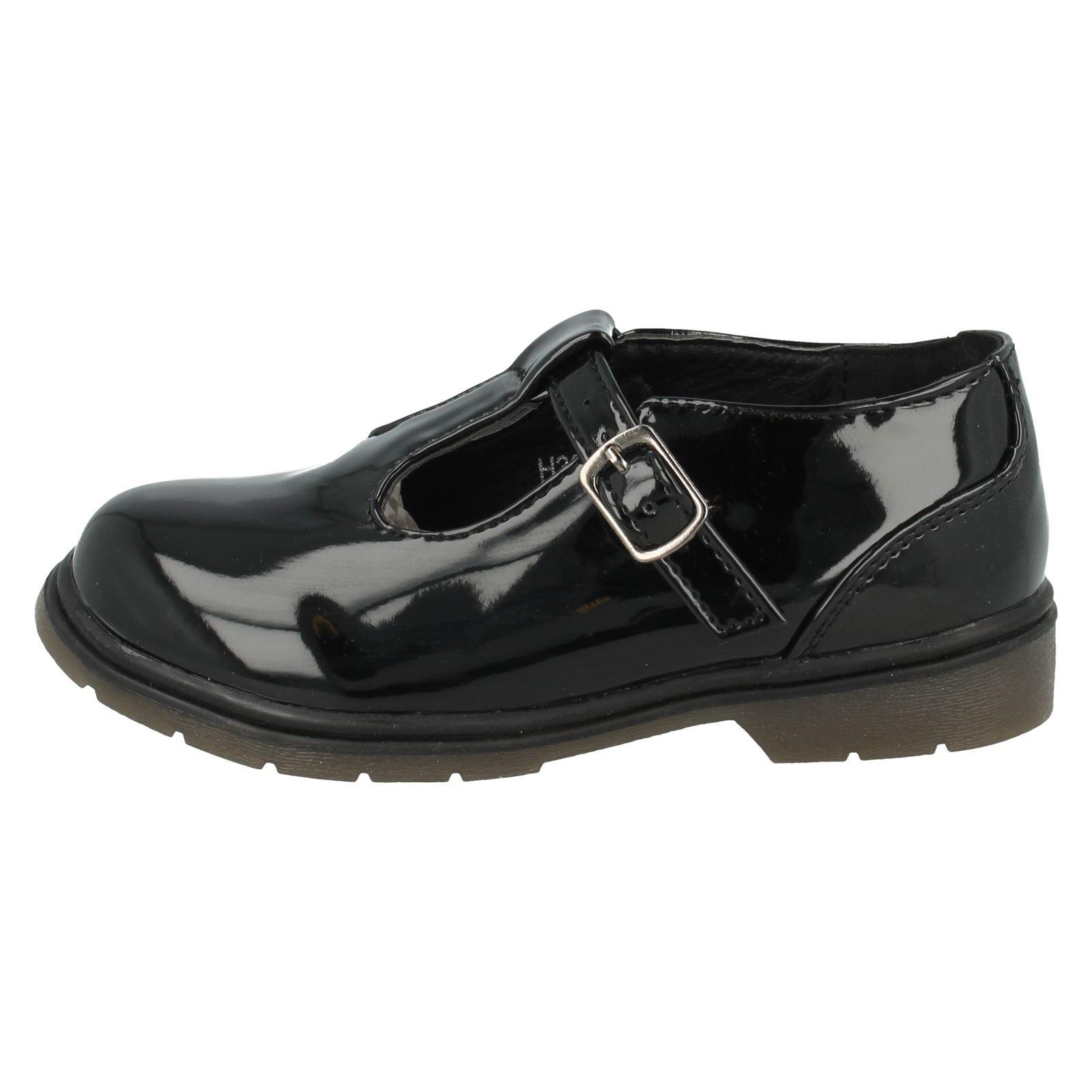 Niñas Punto En T Bar Sintético causal Zapato H3055