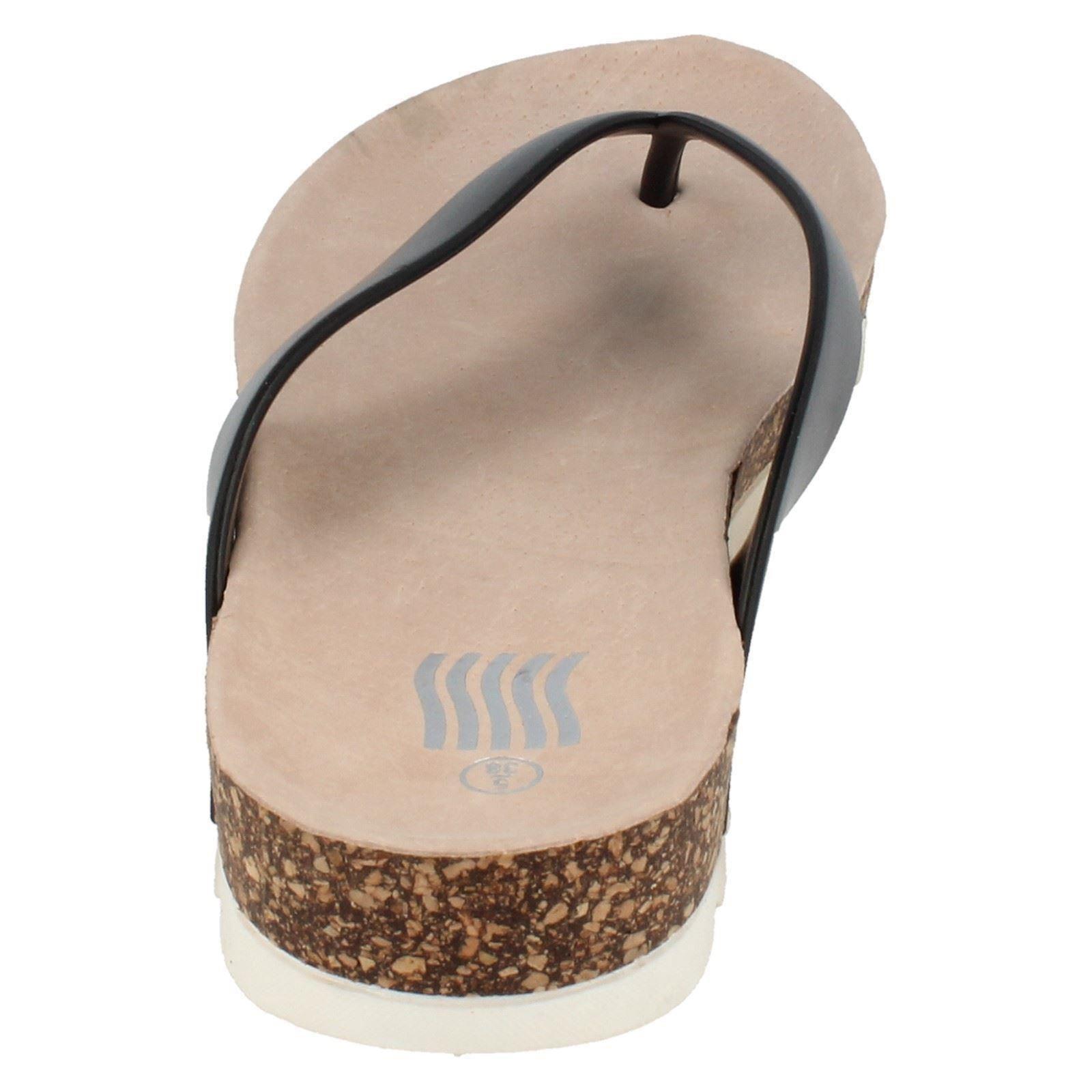 Señoras punto en Flip Flop Sandalias Etiqueta F10423 ~ N