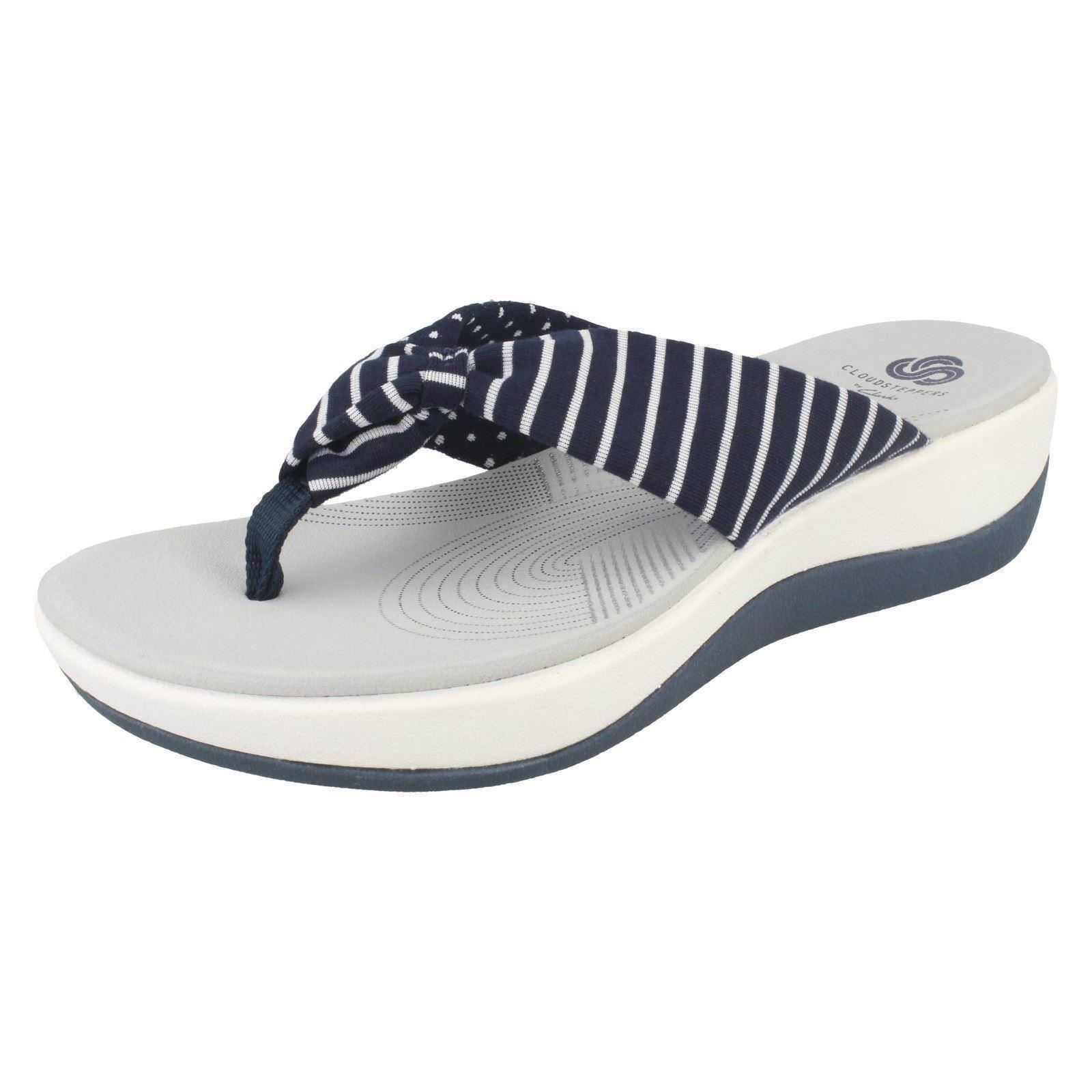 7a98f48525aa Clarks Arla Glison - Navy Print (textile) Womens Sandals 8 UK. About this  product. Picture 1 of 8  Picture 2 of 8 ...