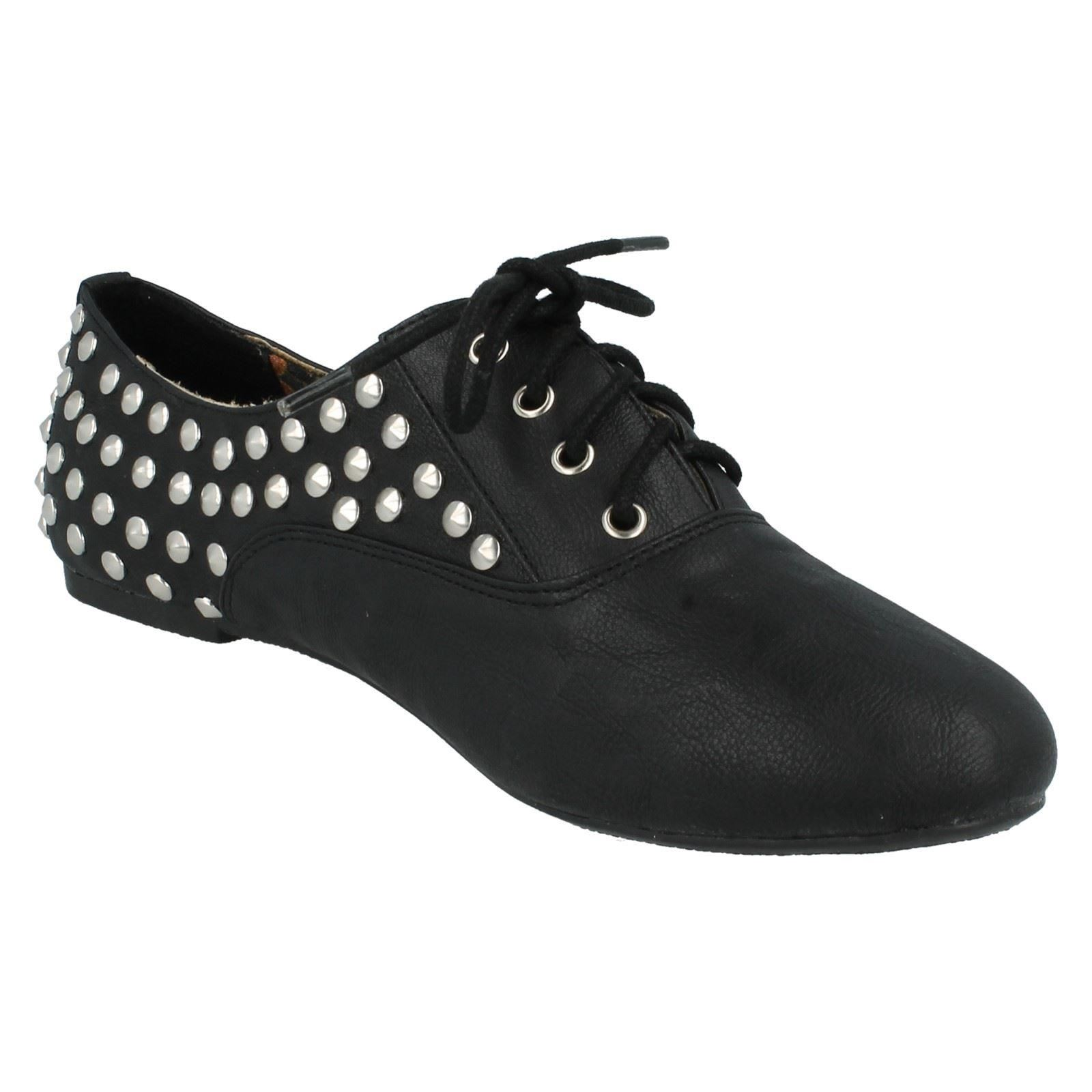 Señoras Spot en Casual Plana lazada Zapatos Estilo-f8870
