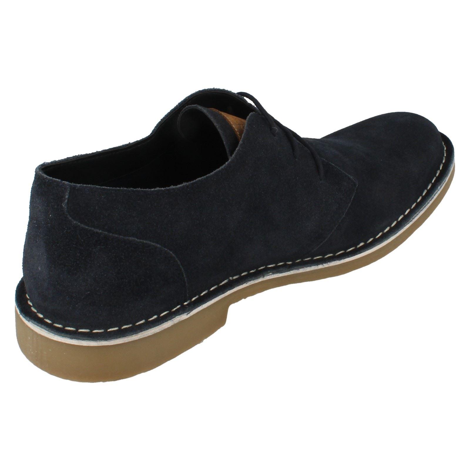 Para Hombre Lambretta Zapatos De Gamuza Soho